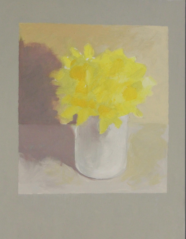 Flower #3 (Yellow Flower)- 11x14%22 (8.5x9.5%22) .JPG