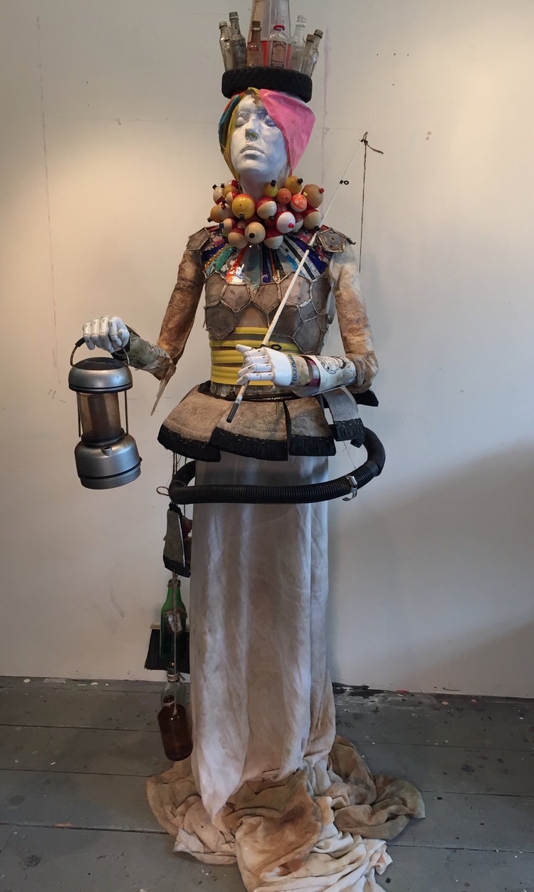 Trashy Lady No. 1 (Gleason Pond Edition) , trash/treasures, plastic, mannequin, lifesize