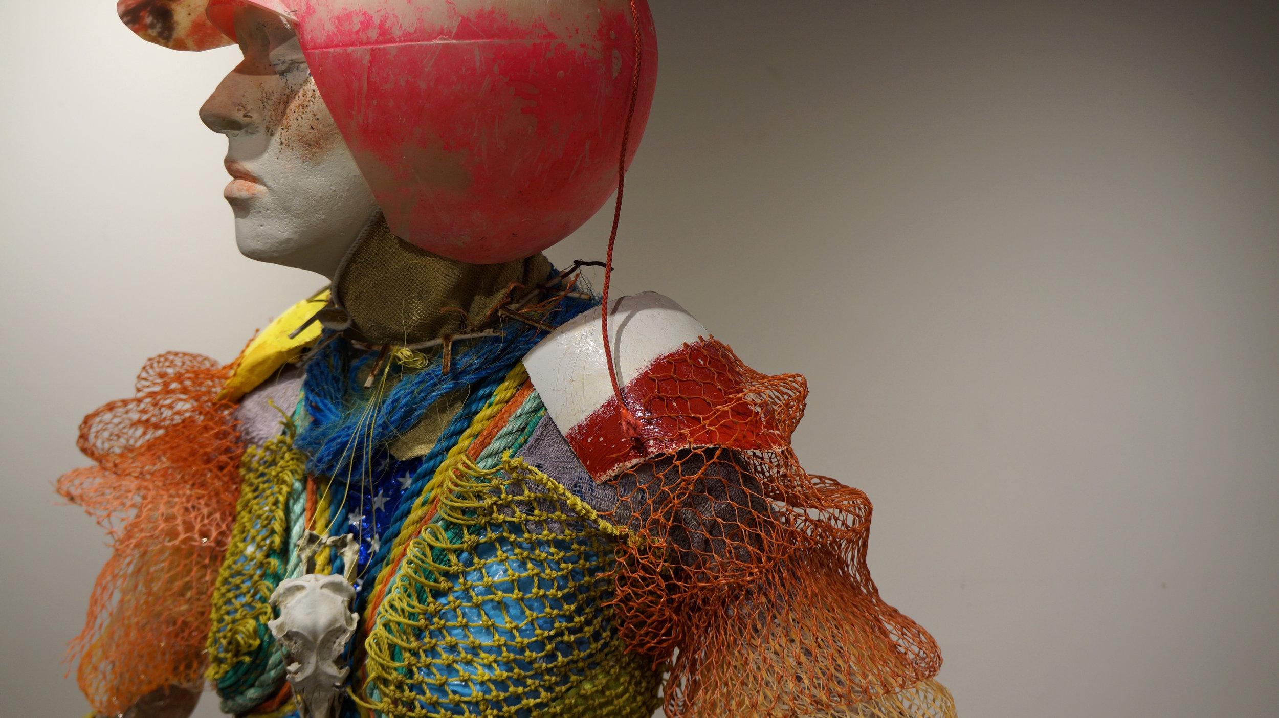Trashy Lady No. 2 (Gloucester Edition) , trash, mannequin, plaster, lifesize