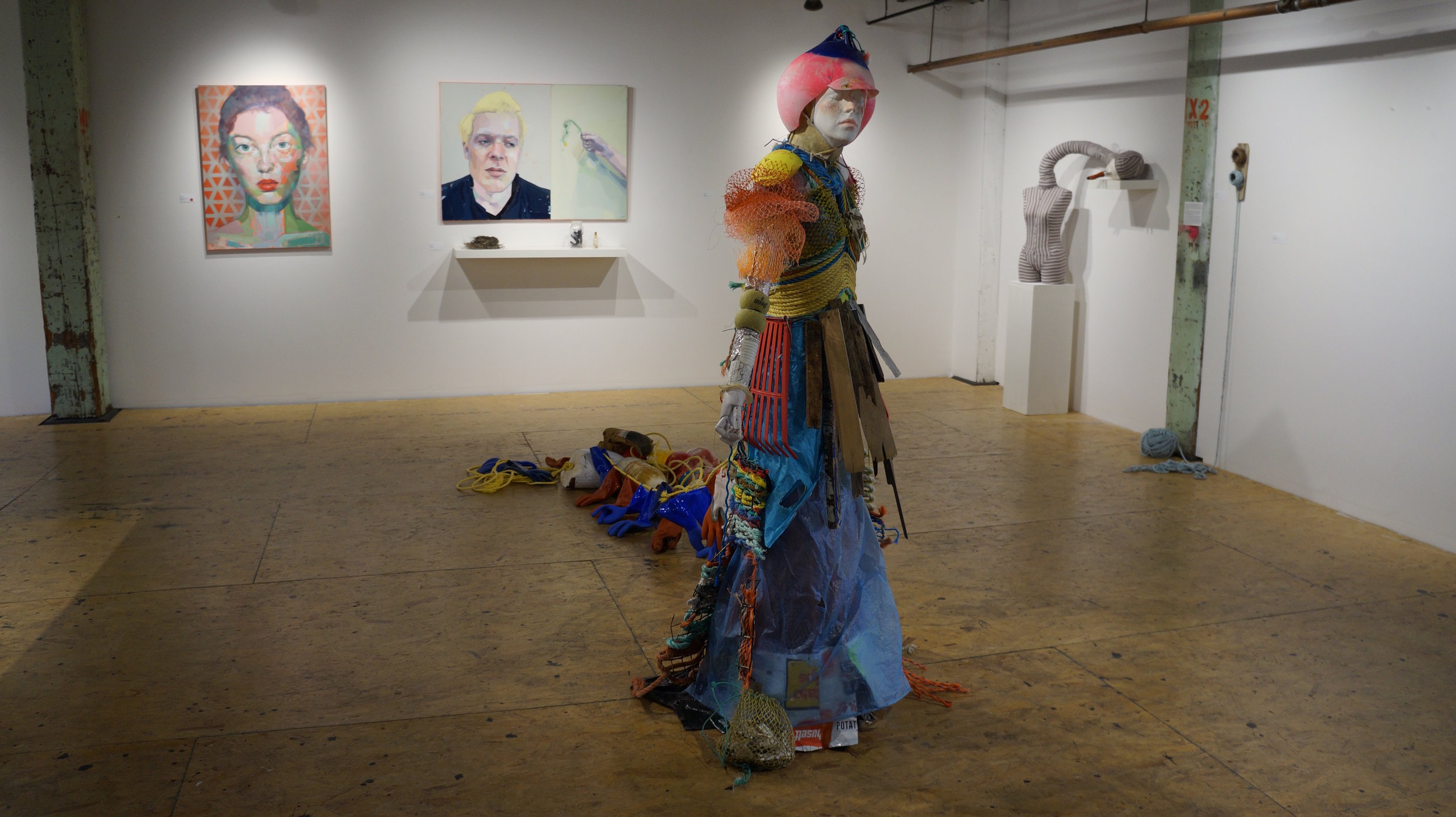 Installation view of  In Place  at Fountain Street Gallery Framingham