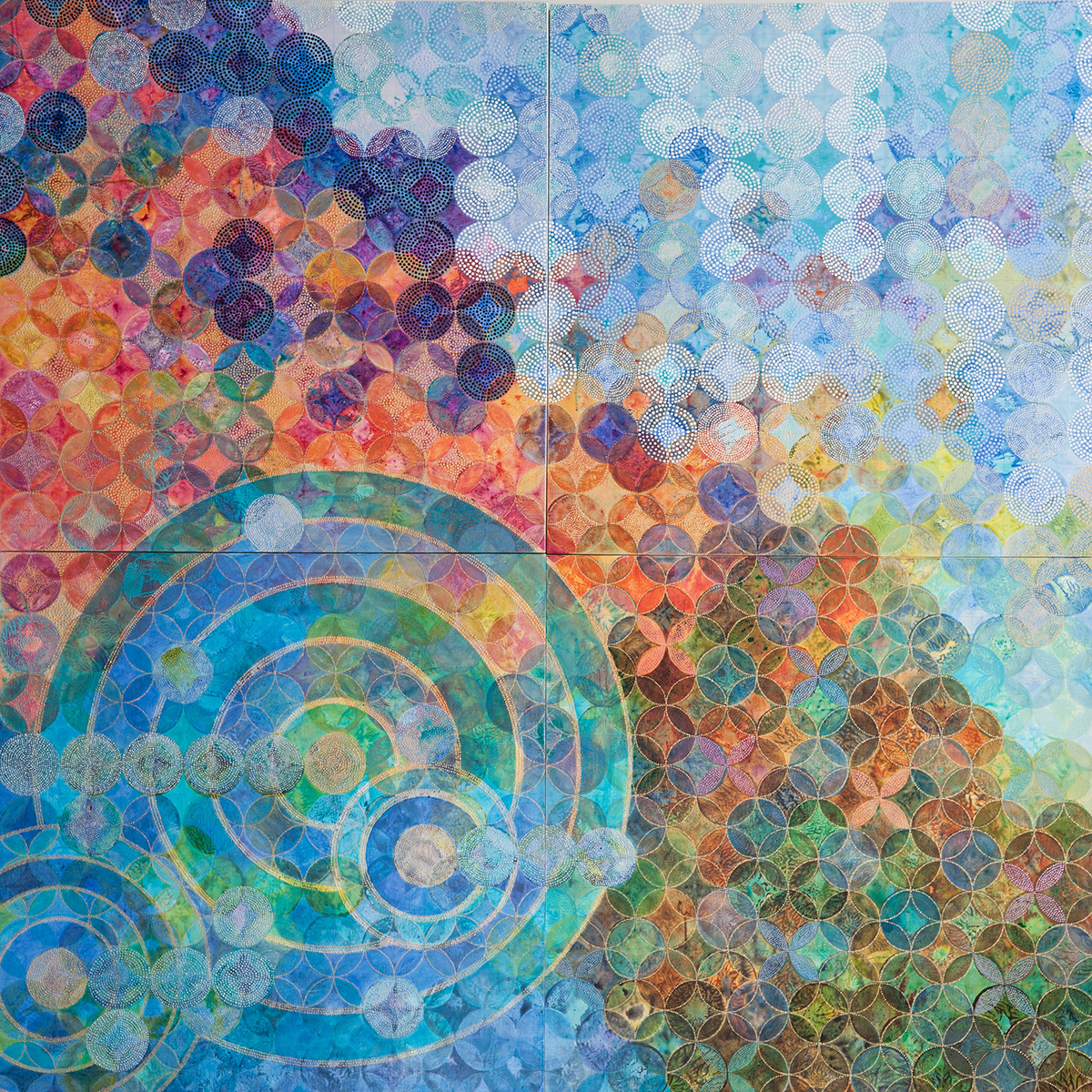 D. Driscoll,  Circles 30 (Elemental,)  acrylic on panel, 72x72