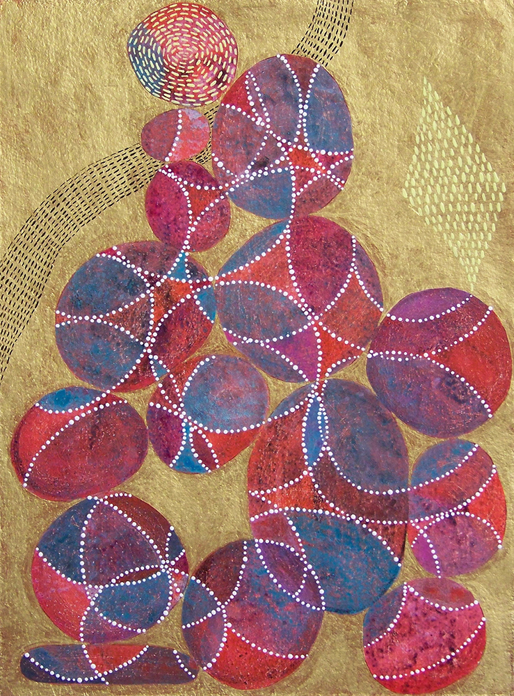 D. Driscoll,  Inner Garden 21 , acrylic on paper, 16x12