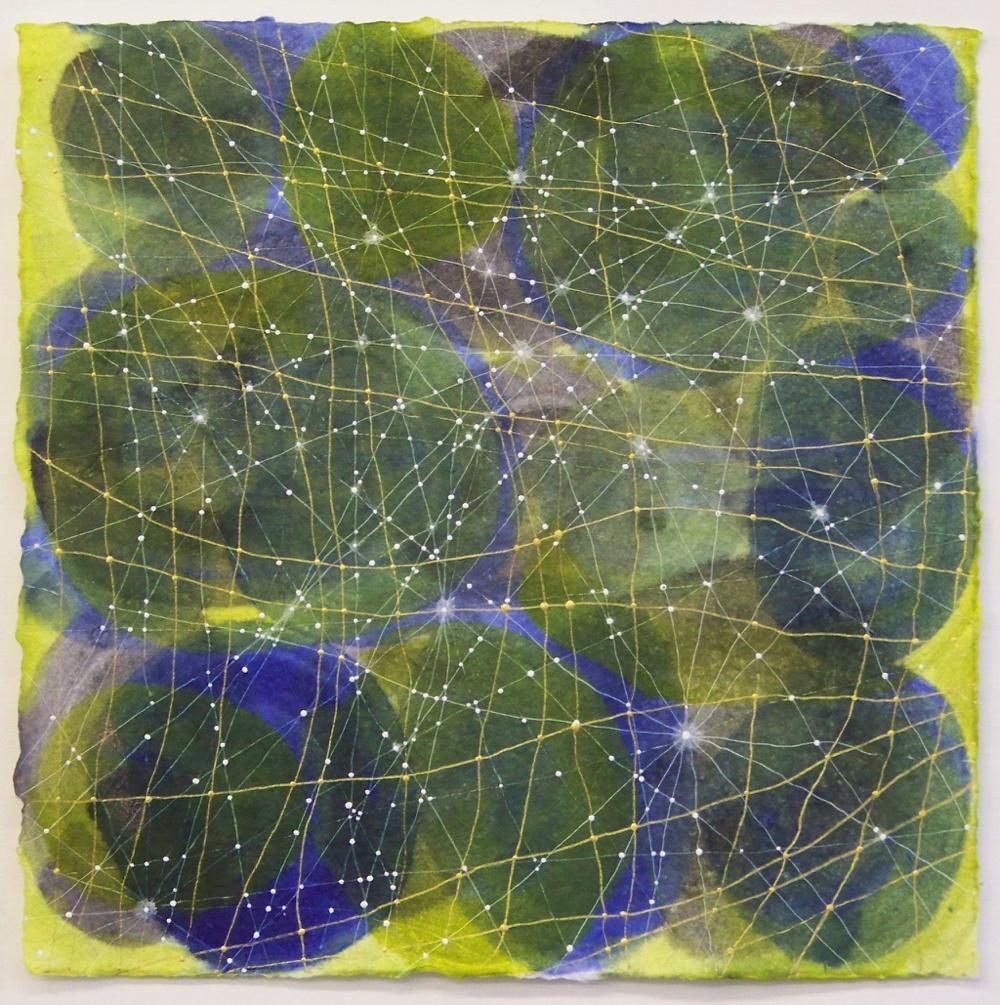 D. Driscoll,  Inner Garden 10 , acrylic on paper, 12x12 with 16x16 mat
