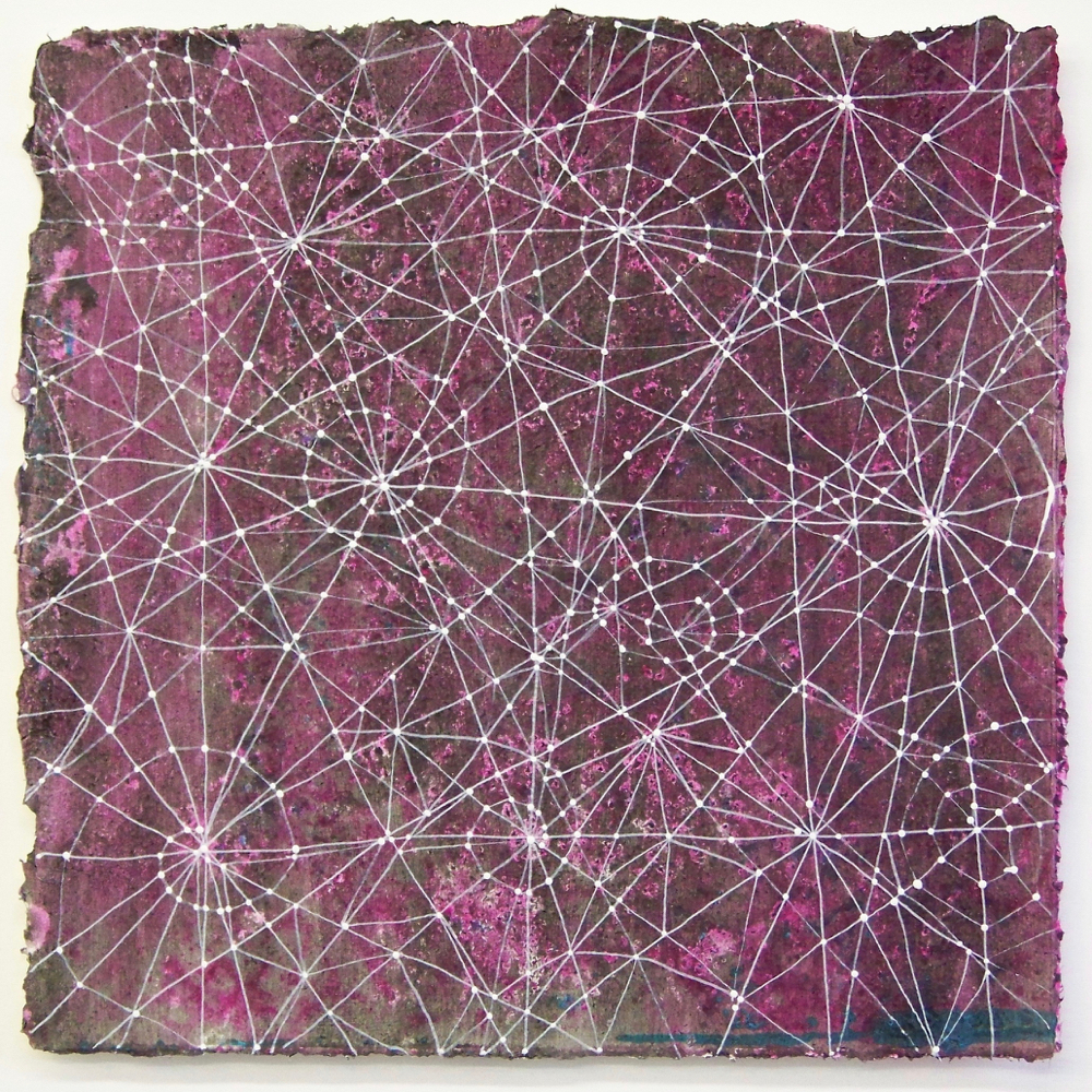 D. Driscoll,  Inner Garden 8 , acrylic on paper, 12x12 with 16x16 mat