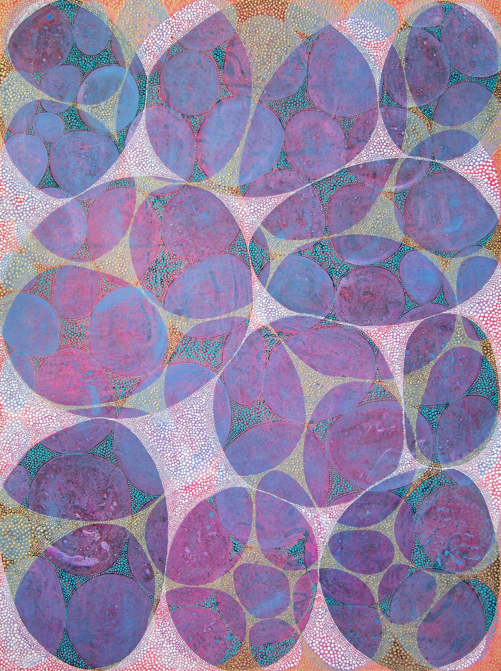 D. Driscoll,  Inner Garden 27 , acrylic on panel, 48x36