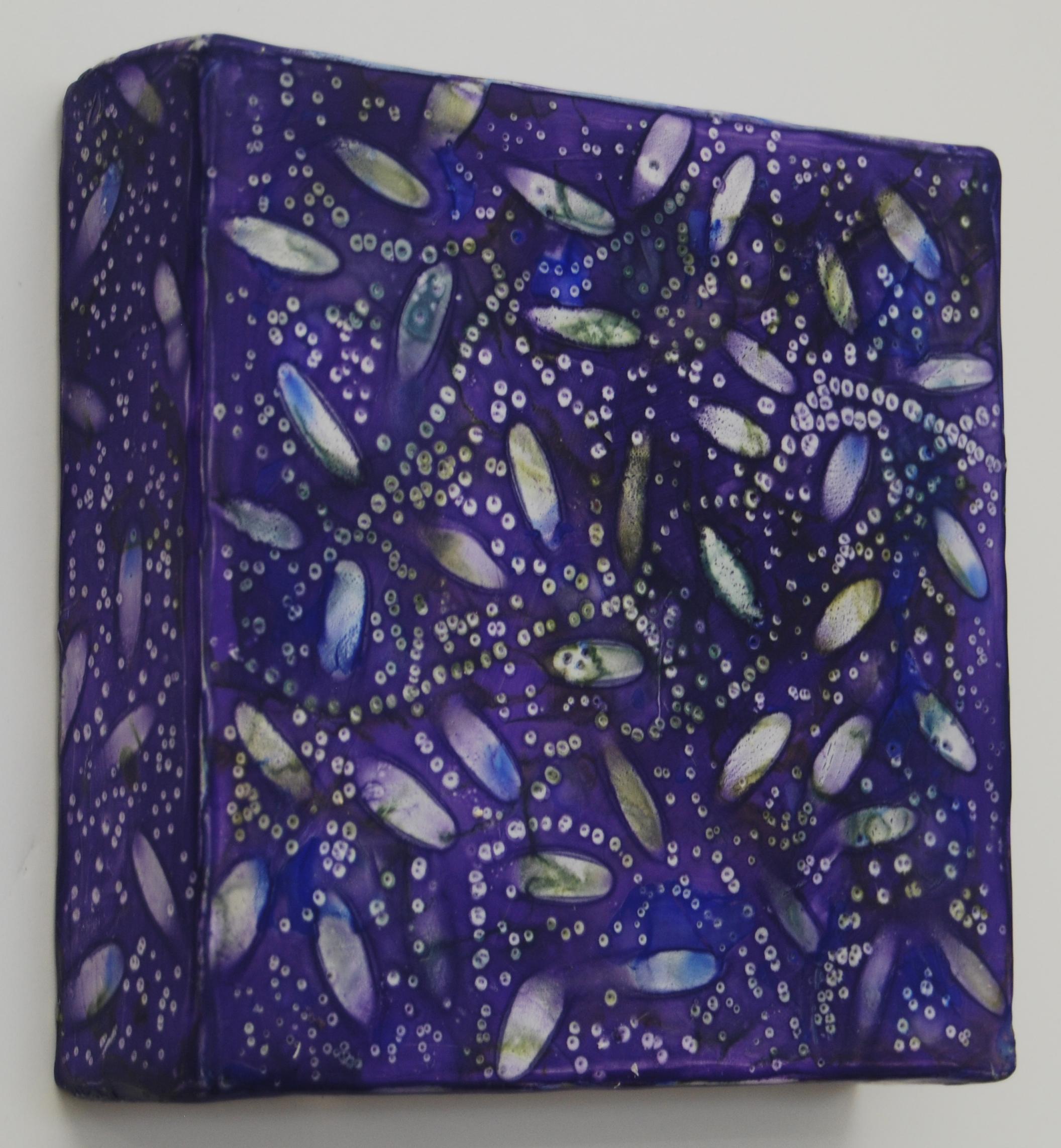 Kay Hartung,  Cell Patterns 7 , encaustic and mixed media, 6x6