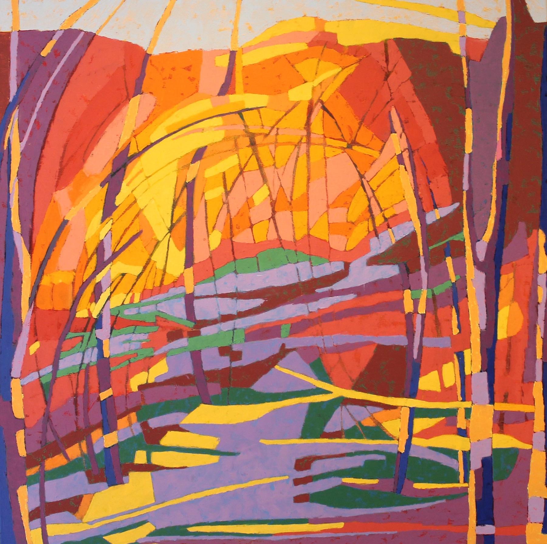 Marcia Wise,  Inner Sanctum ,Oil on canvas, 36x36