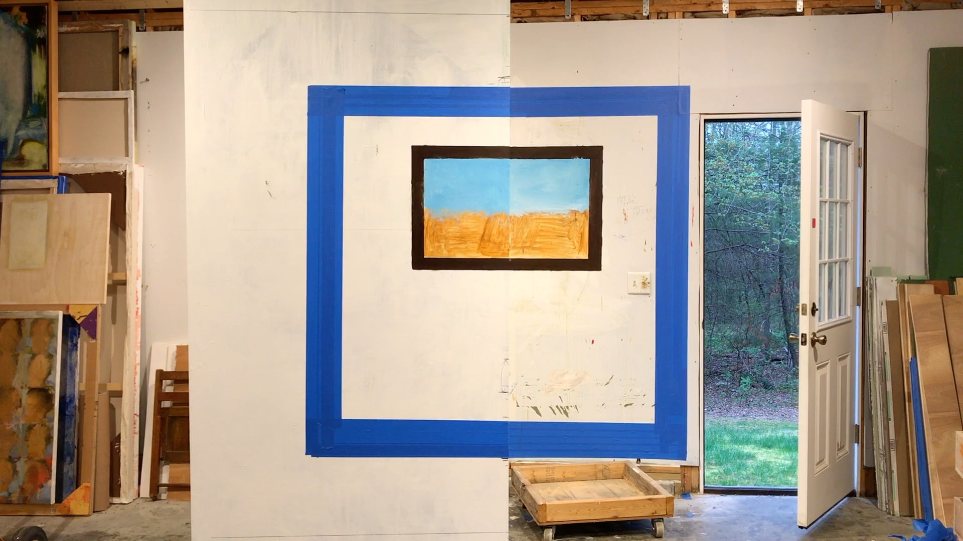 Joseph Fontinha,  Making a Painting , process images and video stills