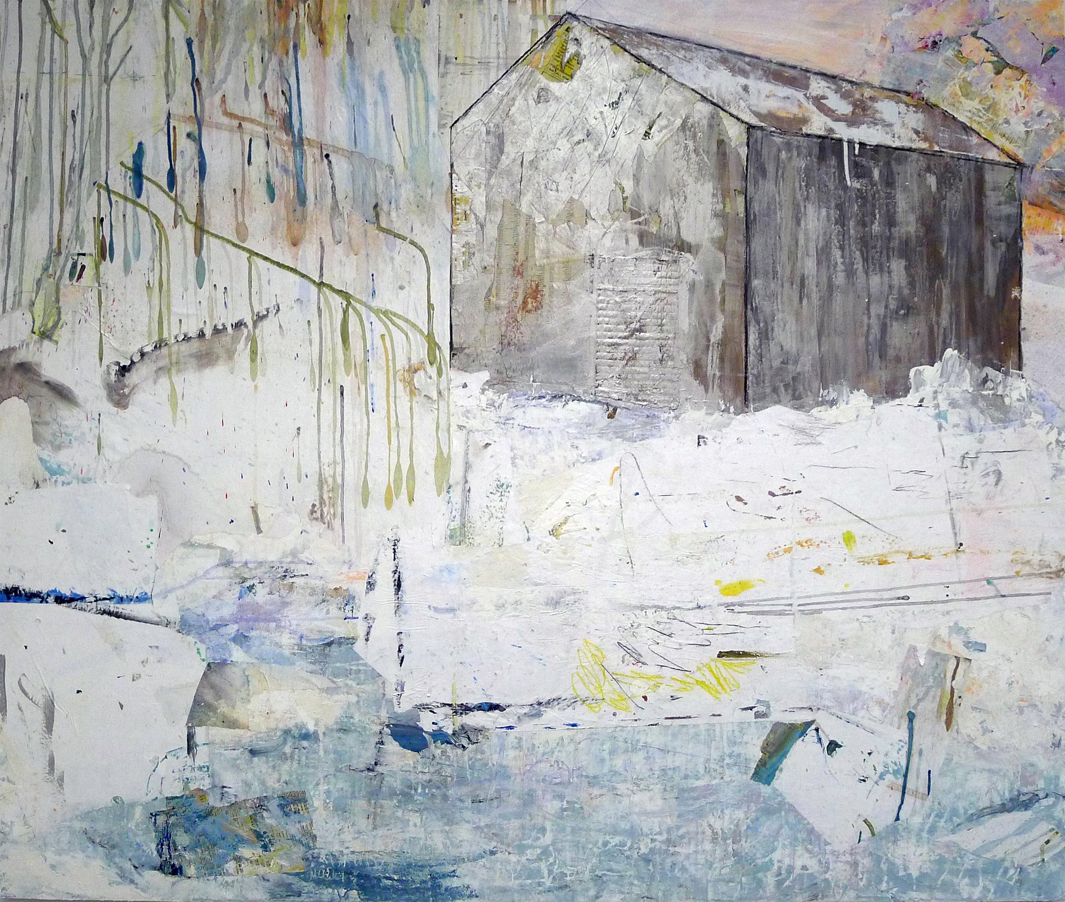 Brenda Cirioni,  Barn Series: Honor, Mixed media painting, 40x48