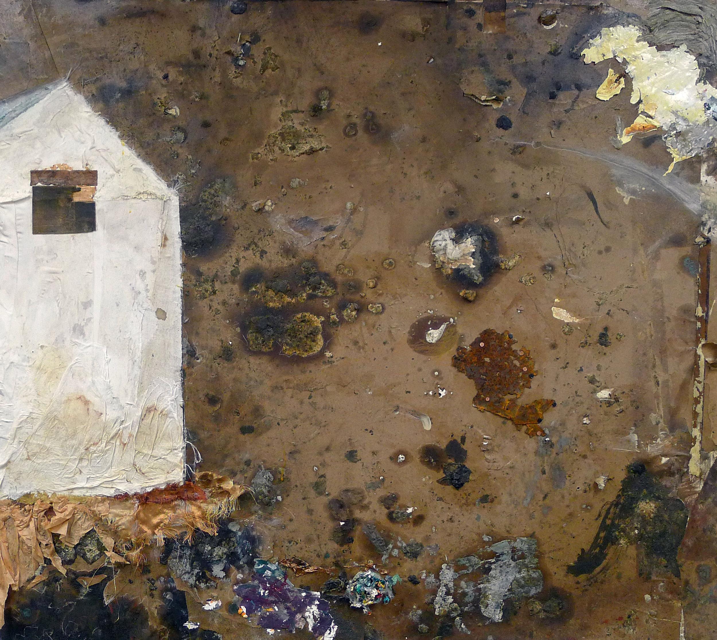 Brenda Cirioni,  Barn Series: Collaboration,  Mixed media painting, 36x40
