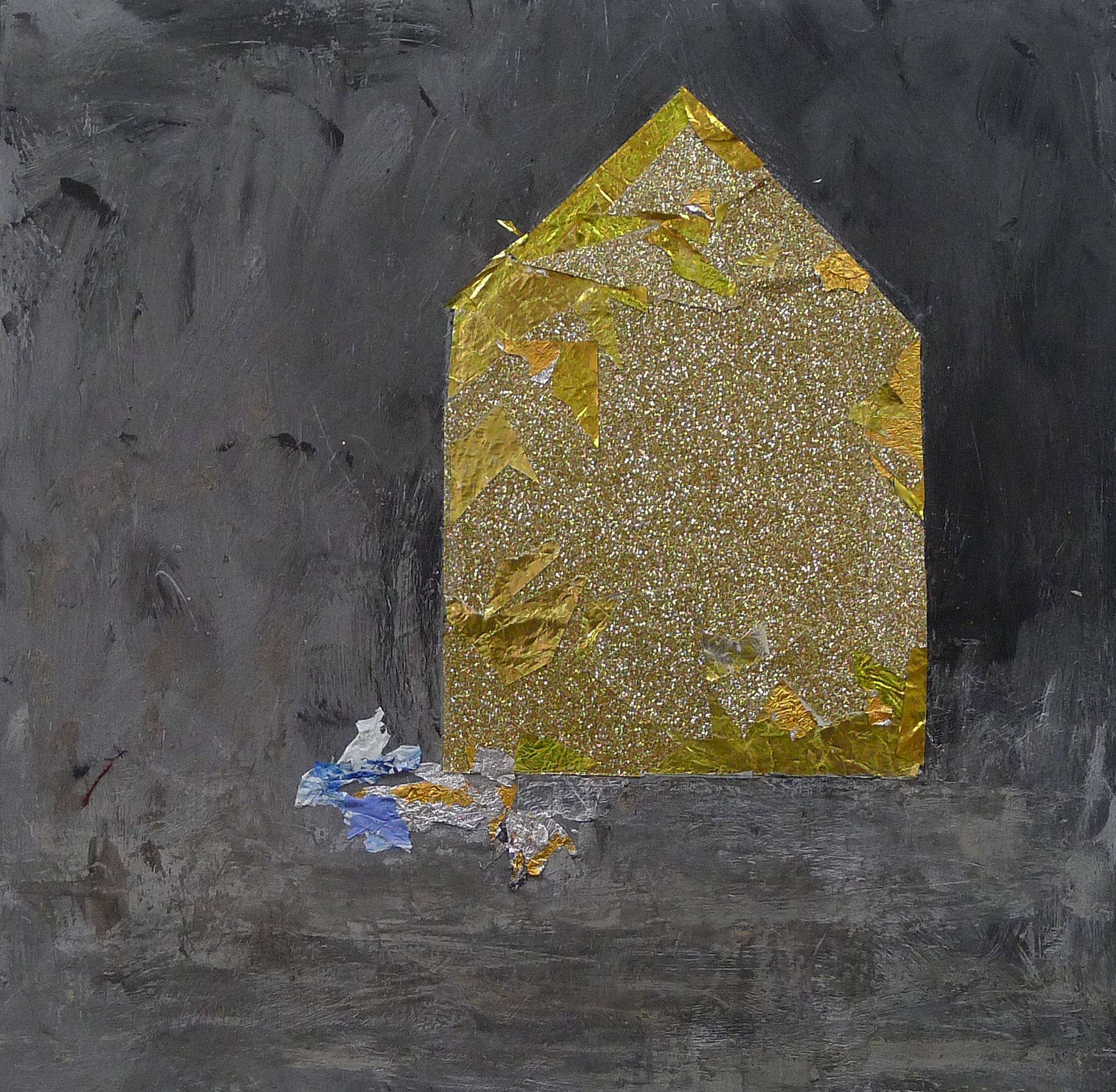 Brenda Cirioni,  Dream House: Night II , Mixed media, 8x8