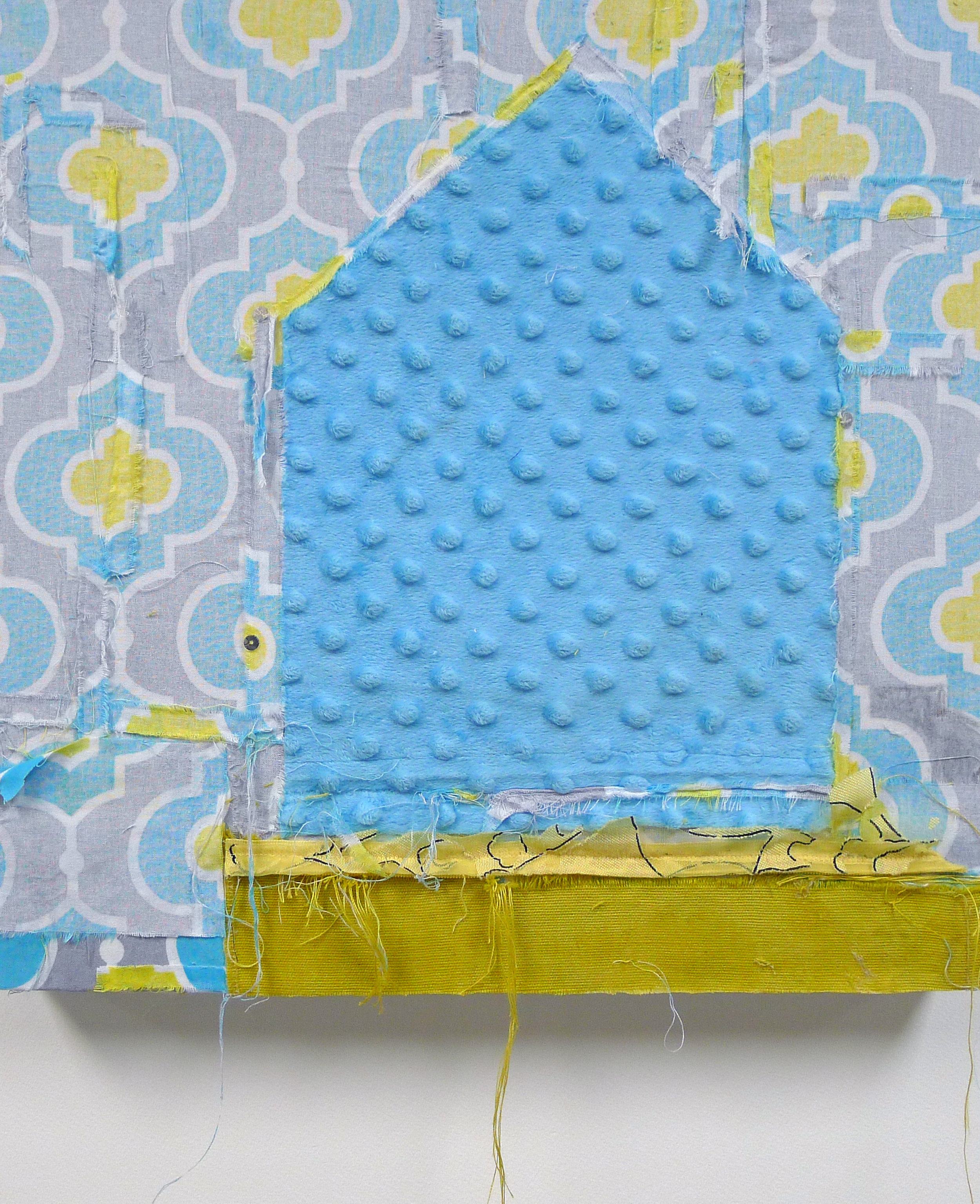 Brenda Cirioni,  Dream House: Appearances,  Fabric and sequins, 16x16