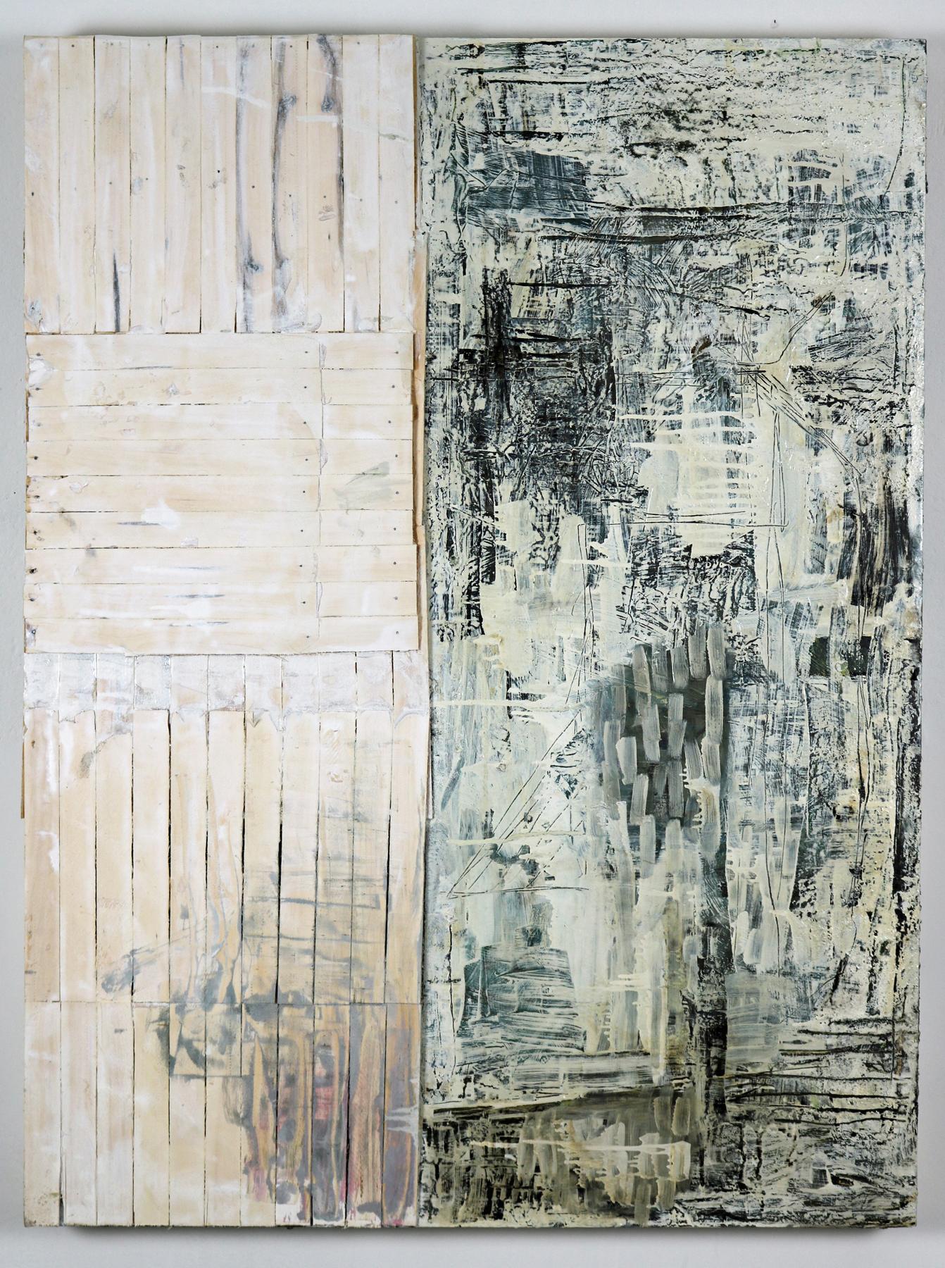 Leslie Zelamsky,  Dwelling III , Mixed media, 48x36
