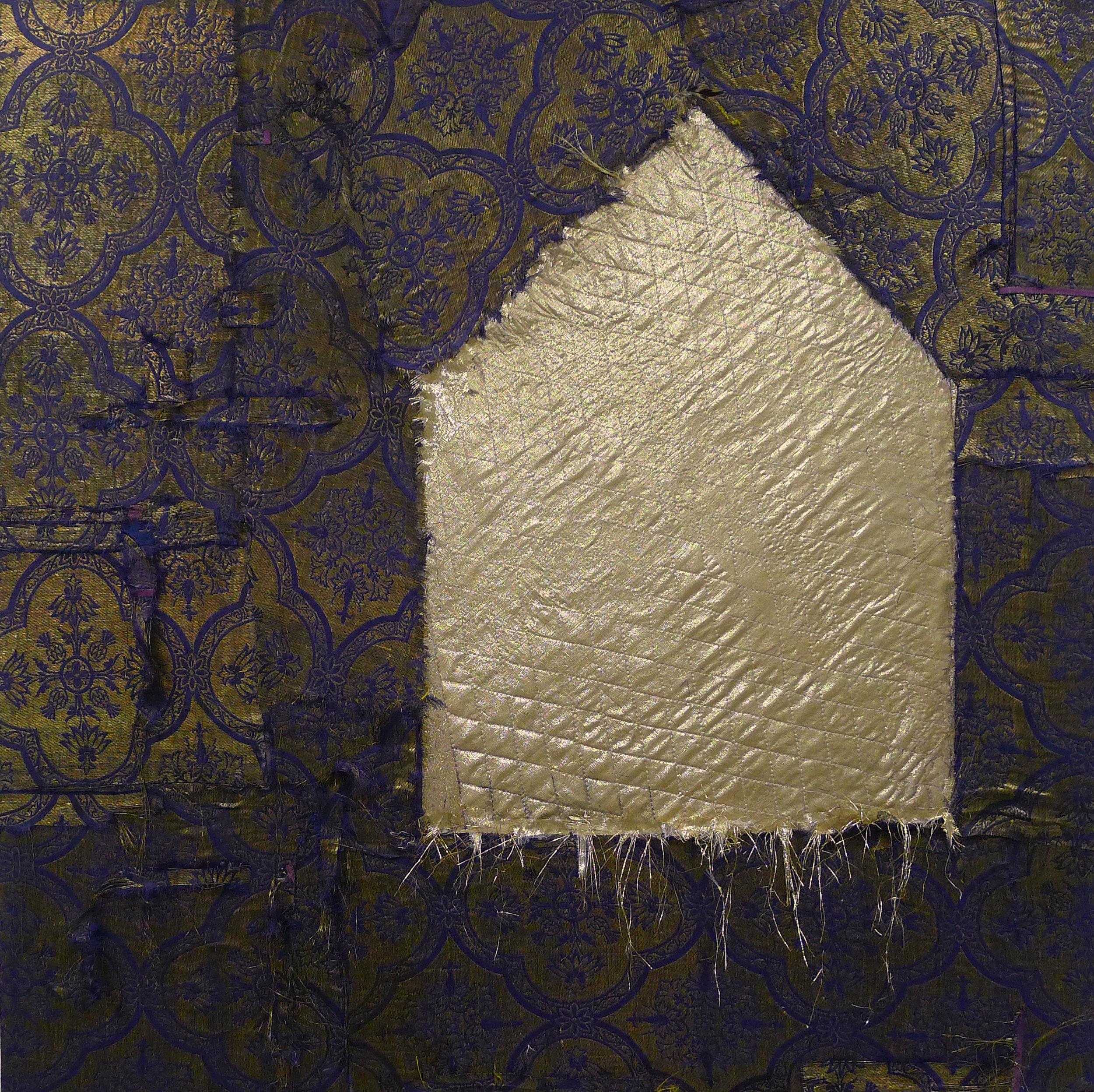 Brenda Cirioni,  Gold House,  Fabric, 30x30