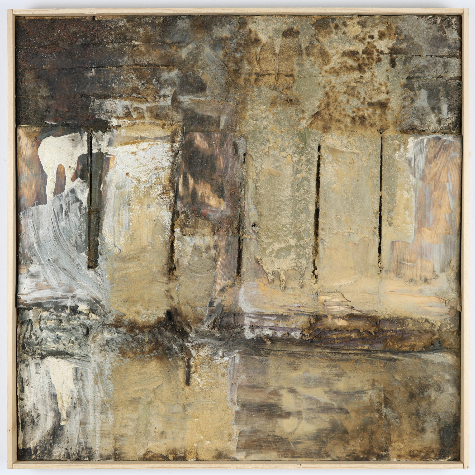 Leslie Zelamsky,  What Remains, Mixed media, 24x24