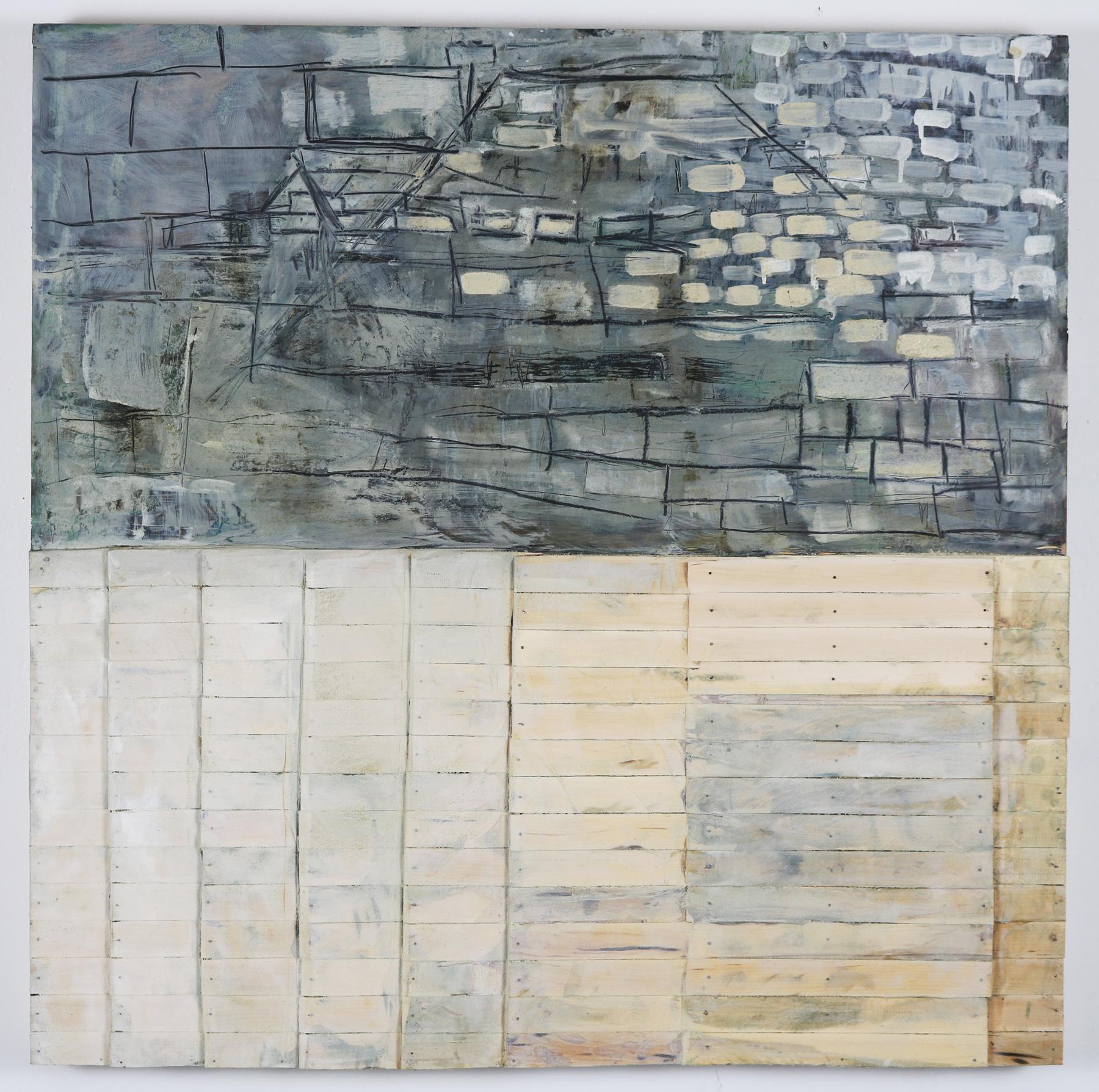 Leslie Zelamsky,  Dwelling I,  Mixed media, 40x40