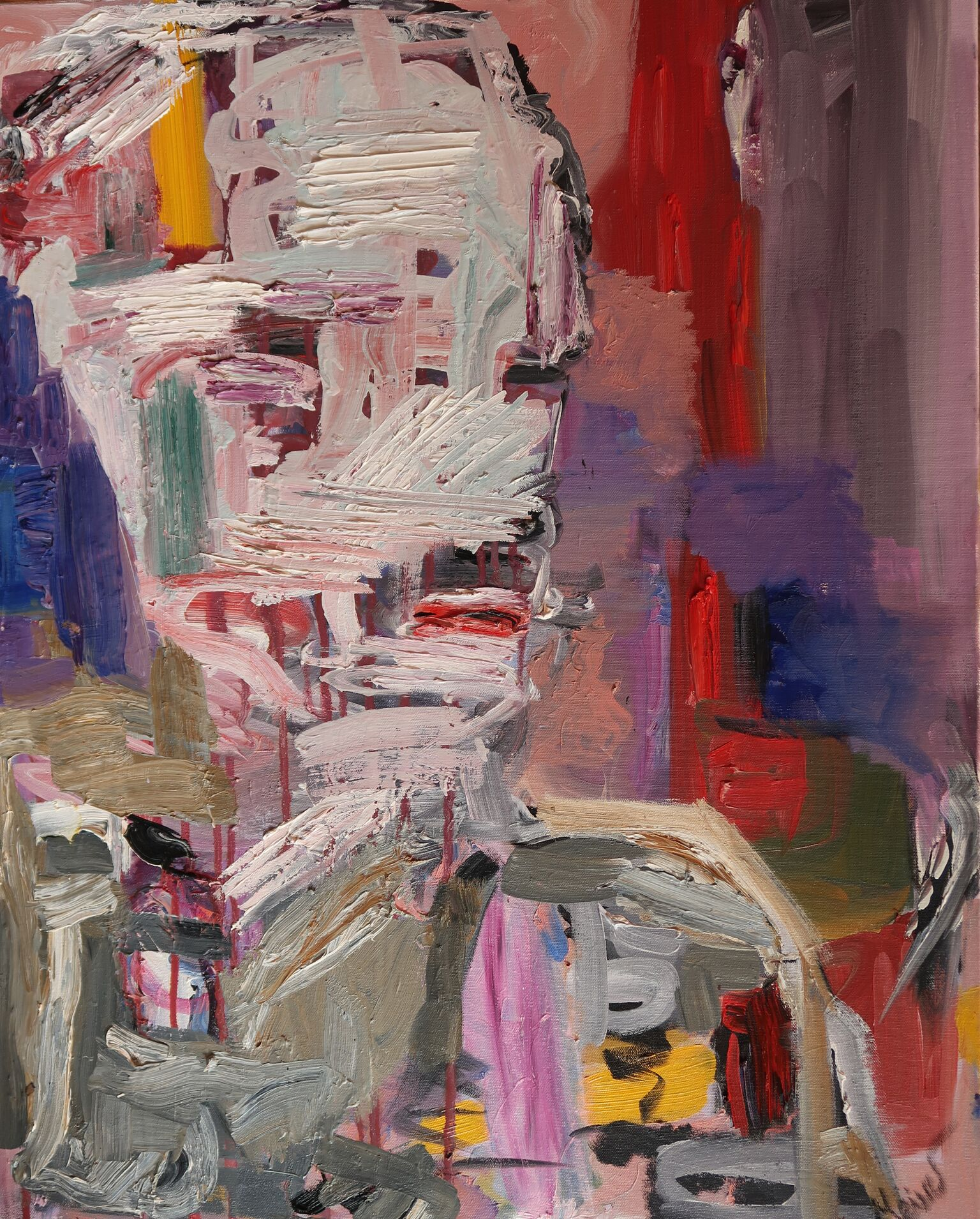 Meirav Zaks-Zilberman, Face , oil on canvas,22 x 26, $4,500