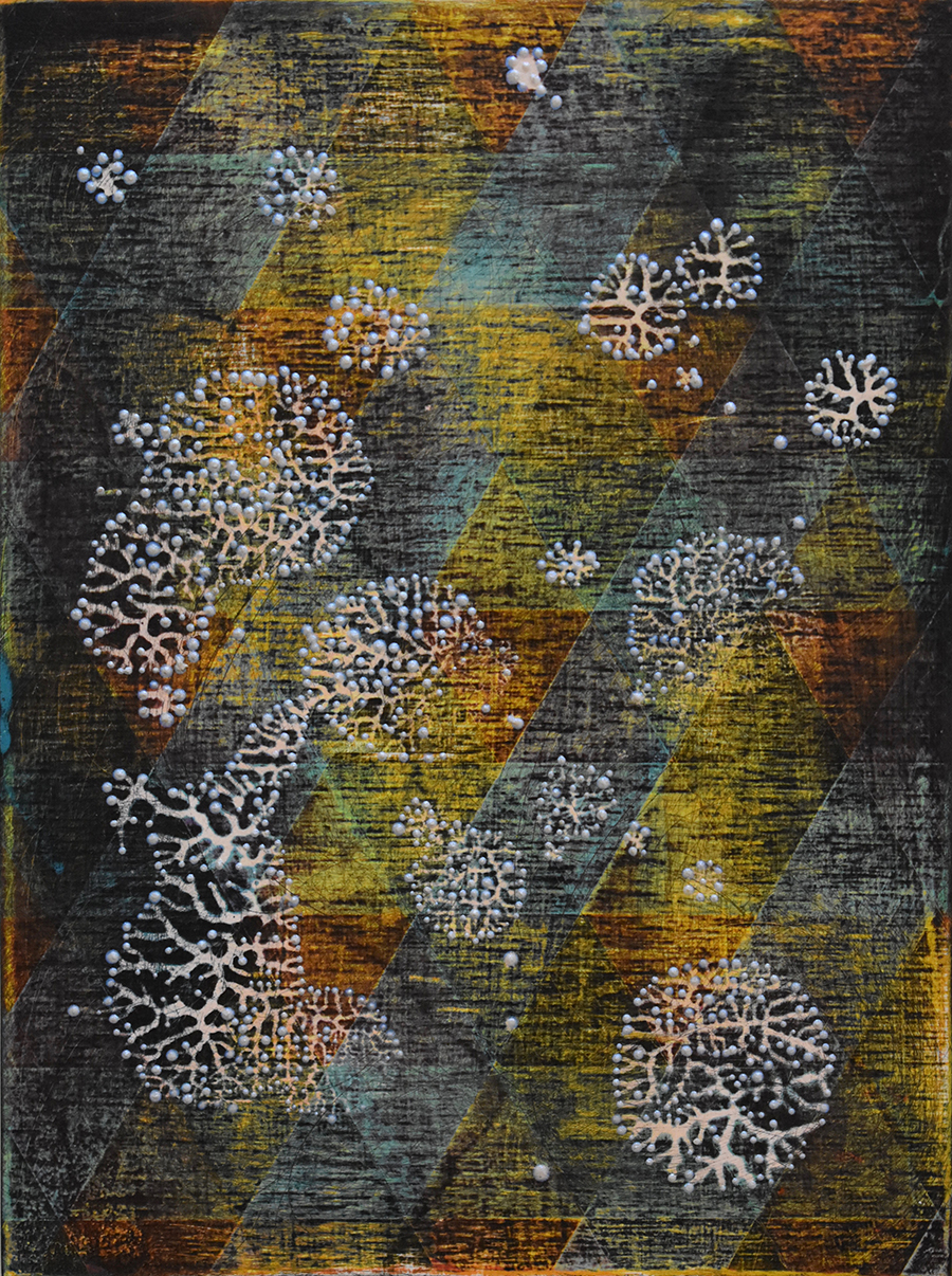 """Denise Driscoll,  All the Stars in the Sky 2 , acrylic on panel, 8"""" x 6"""""""