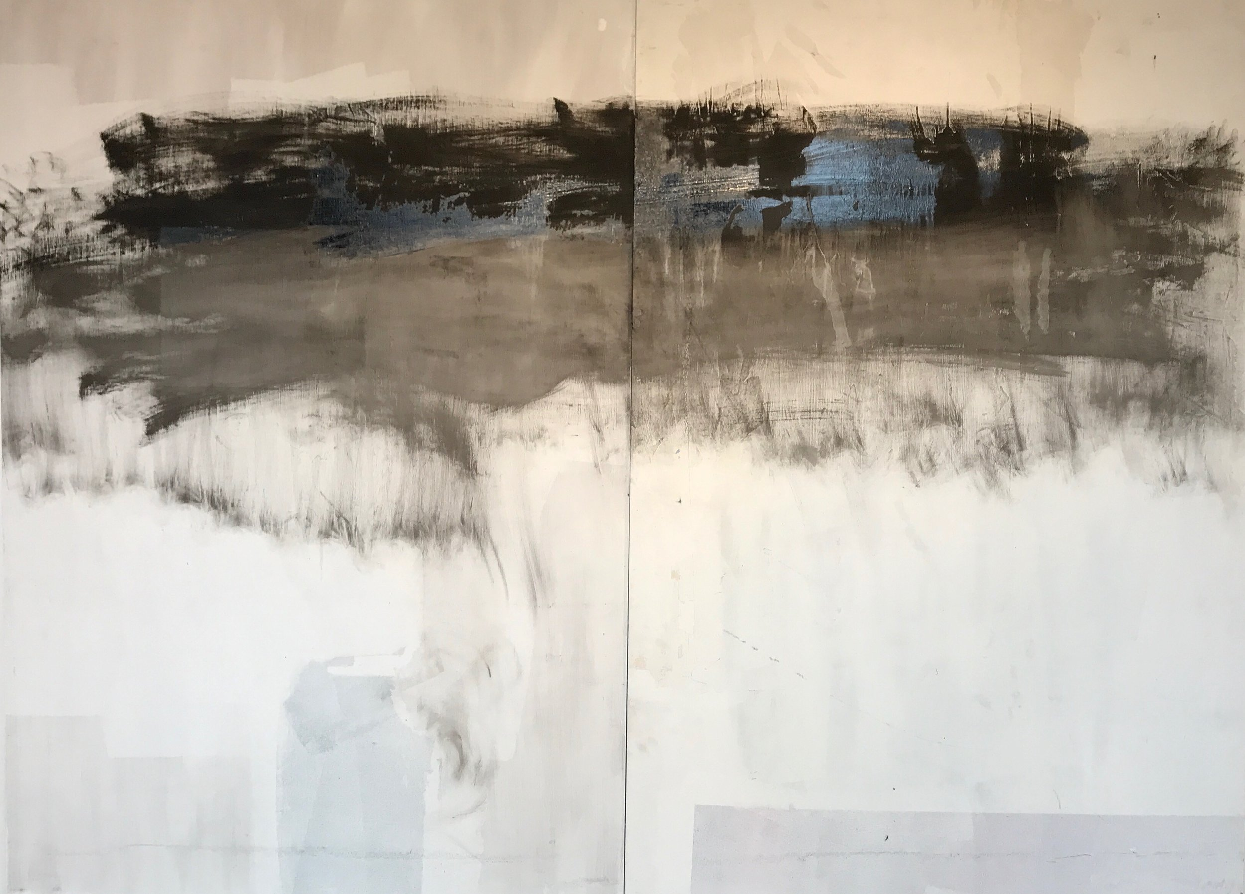 Joseph Fontinha,  Remembrance  (diptych), oil on panel, 6ft x 8ft.