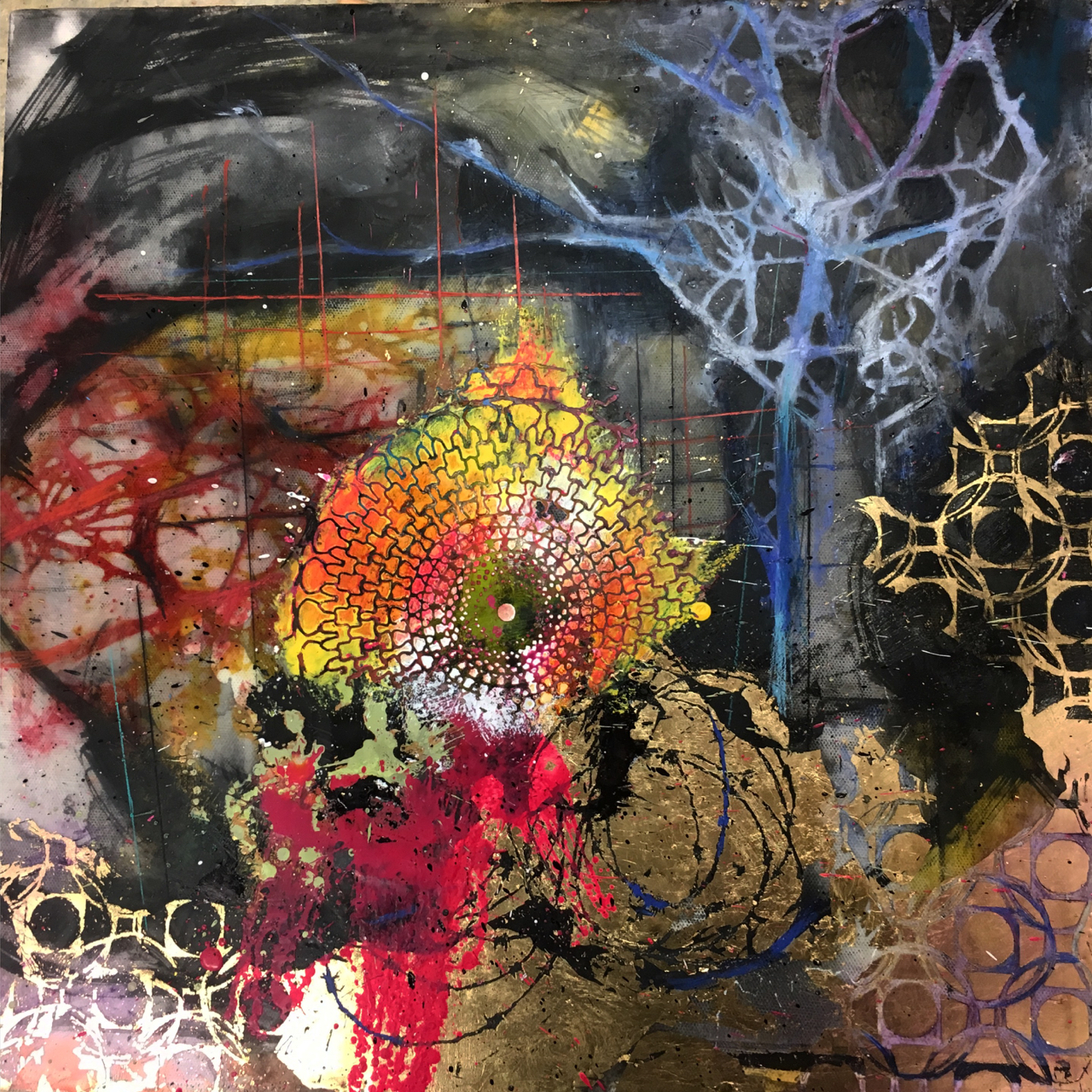 Mary Marley,  Glister , Encaustic Paint