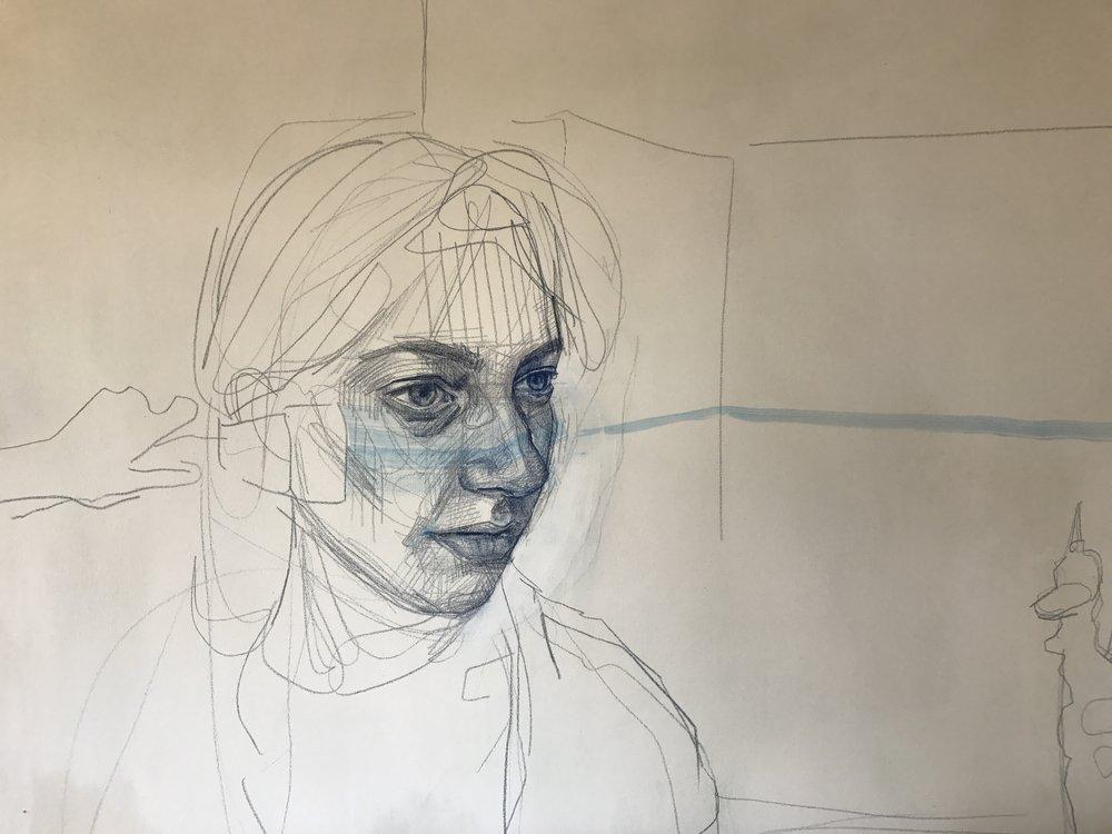 """""""Blank World"""" (detail) by Mia Cross"""