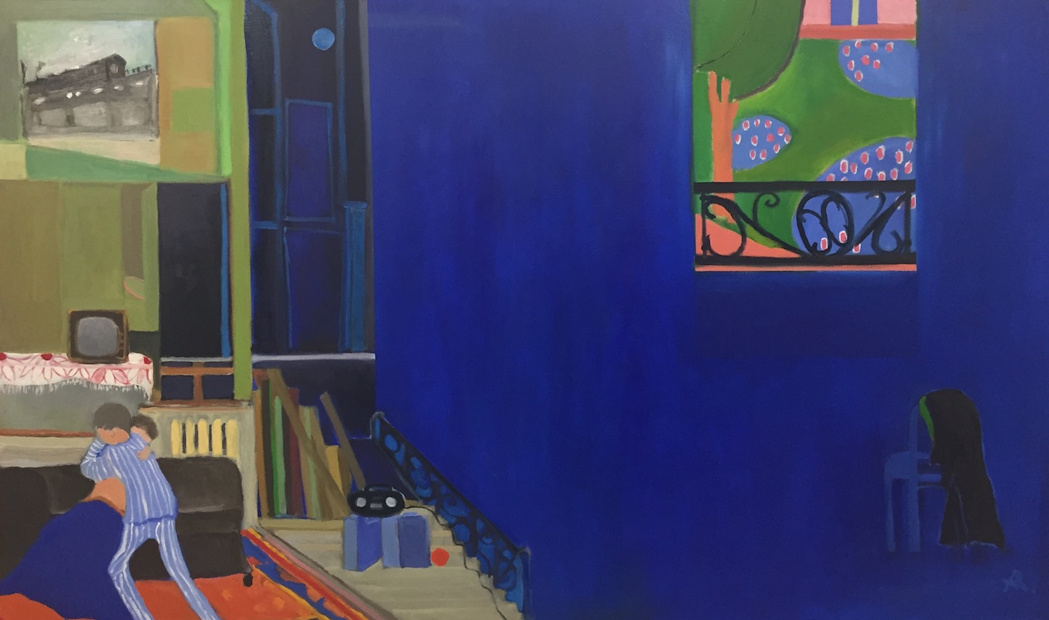 """Falling in Love with Matisse  , 36"""" x 48"""", oil on canvas, 2017"""