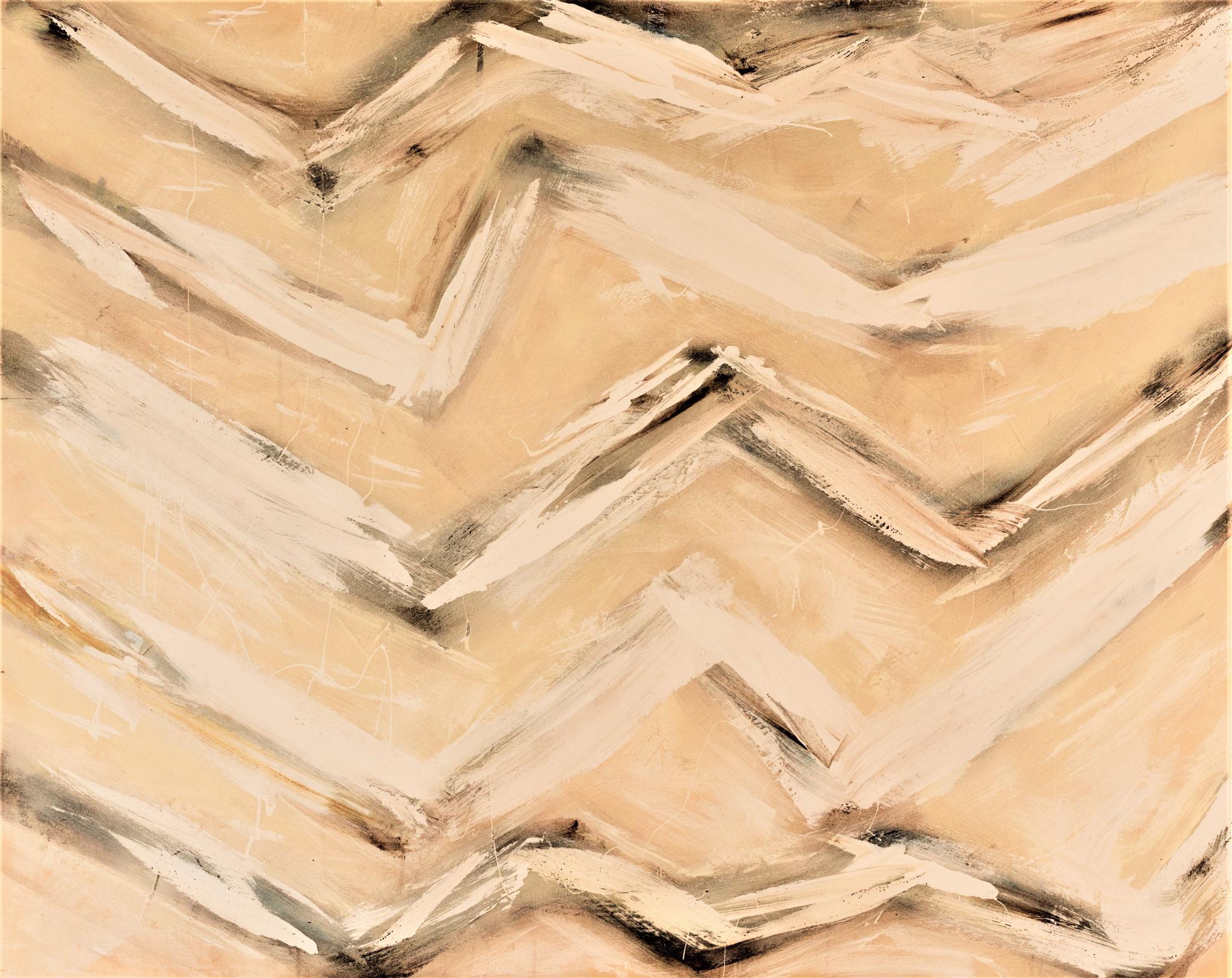 Ocean sound , mixed-media on wood board