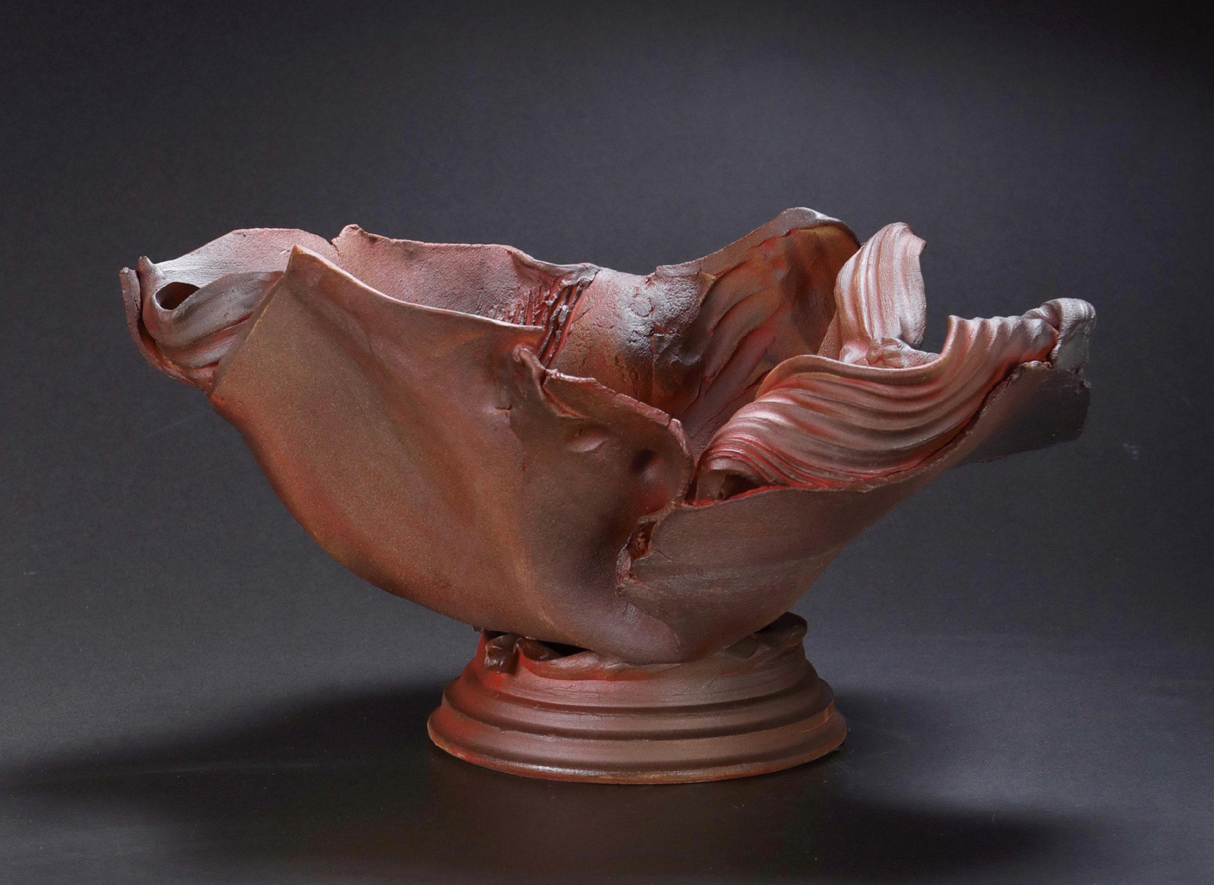 Mimi Howard,  Earth Ribbon #19 , glazed stoneware, 20x15x10