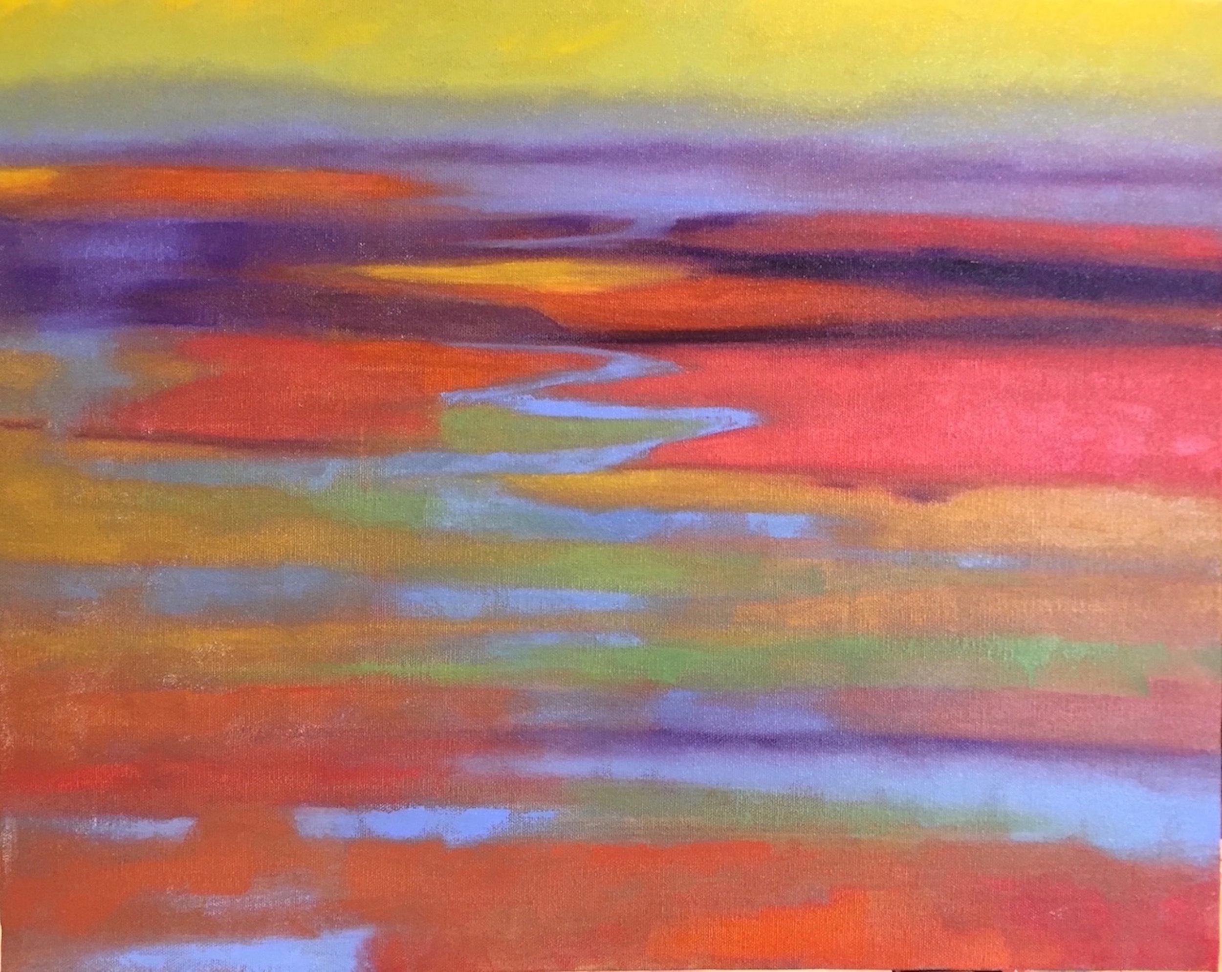 Marcia Wise,  Marsh 1 , Oil, 16x20
