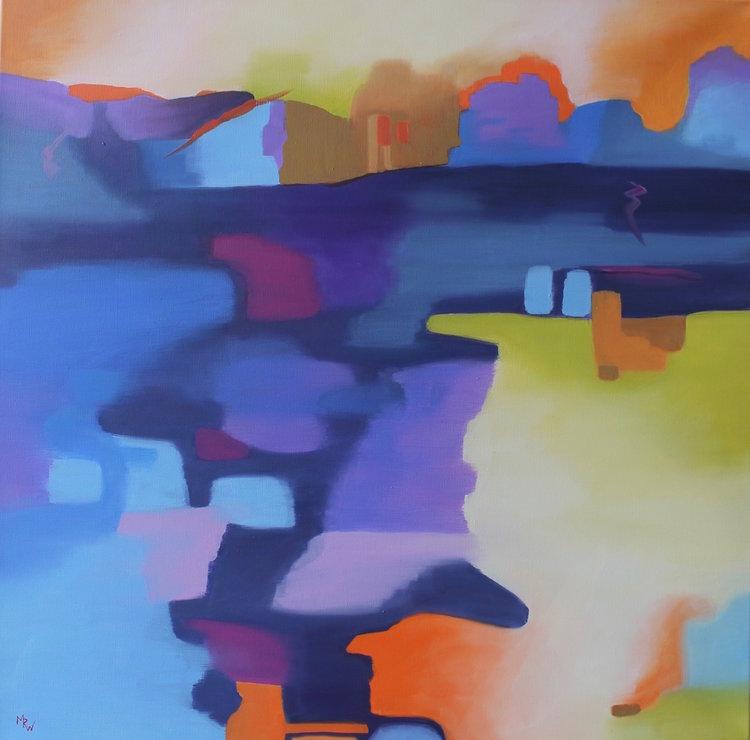Marcia Wise,  Scena , Oil, 24x24