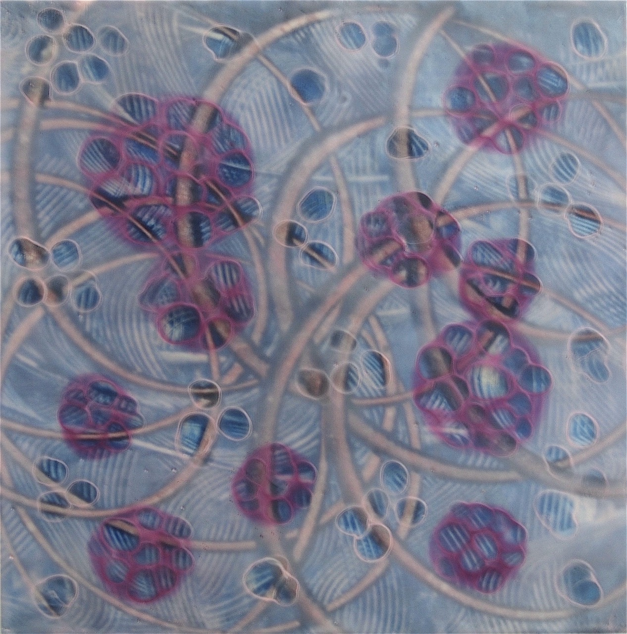 """Entanglements,"" painting by Kay Hartung"