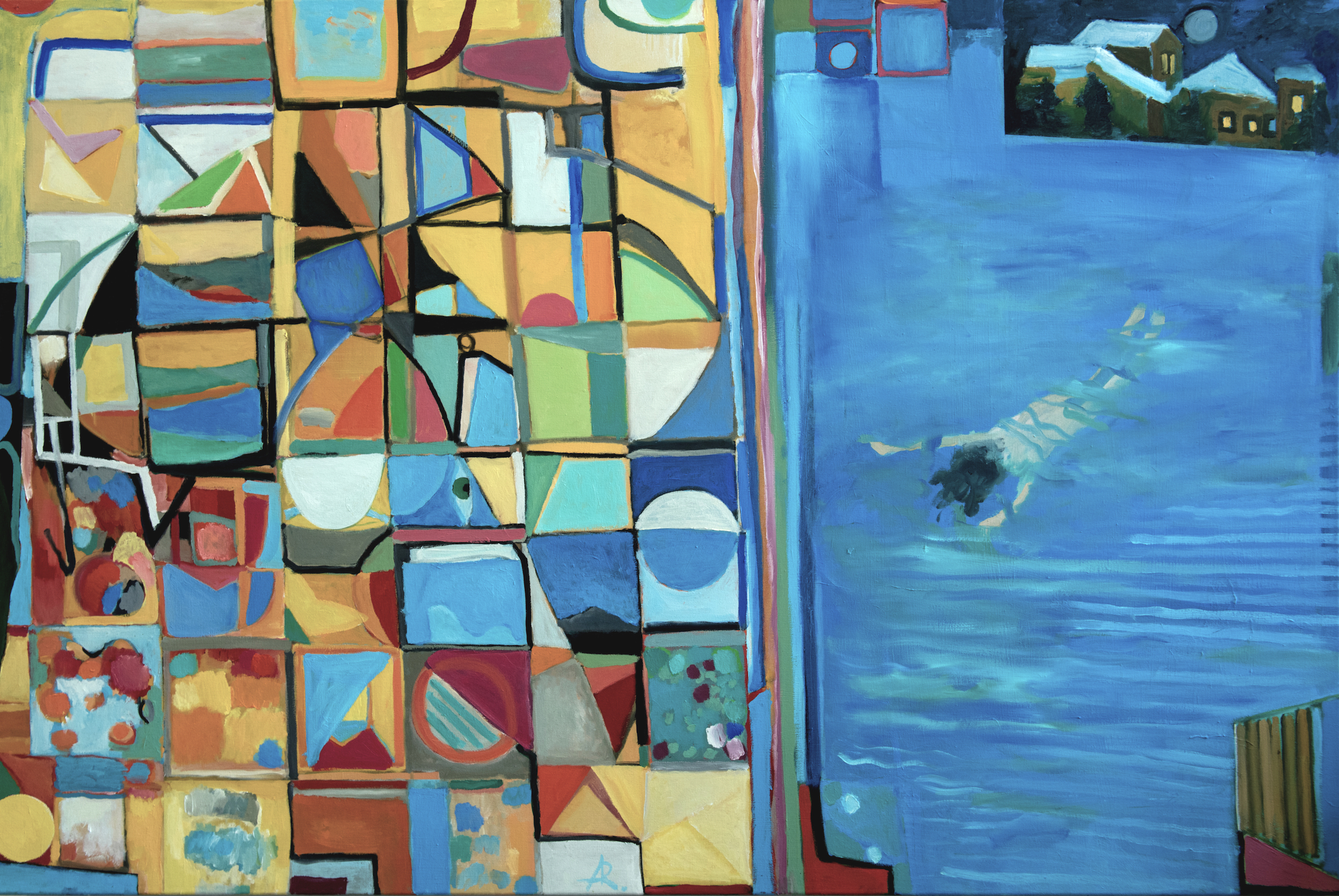 """Diving into Modernism,"" painting by Alexandra Rozenman"