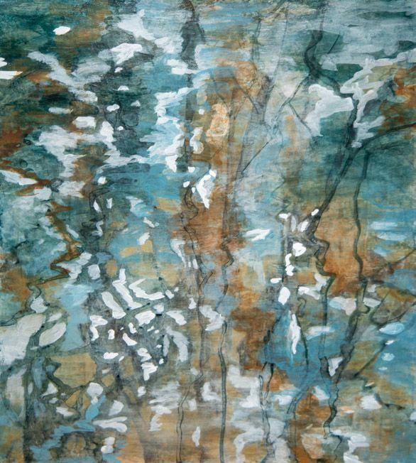 "Reflection Study 2 , acrylic on canvas, 22"" x 20"""