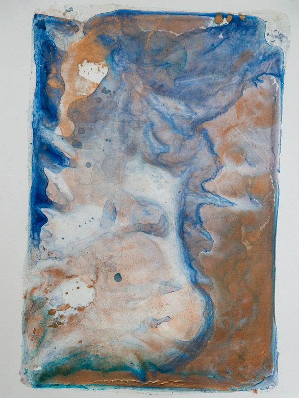 """River Of Dreams 4,  acrylic on paper, 24"""" x 18""""   SOLD"""