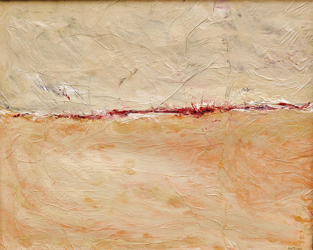 "Paola F. Bidinelli,  Spiritual Skyline , mixed-media on canvas, 31"" x 39"""