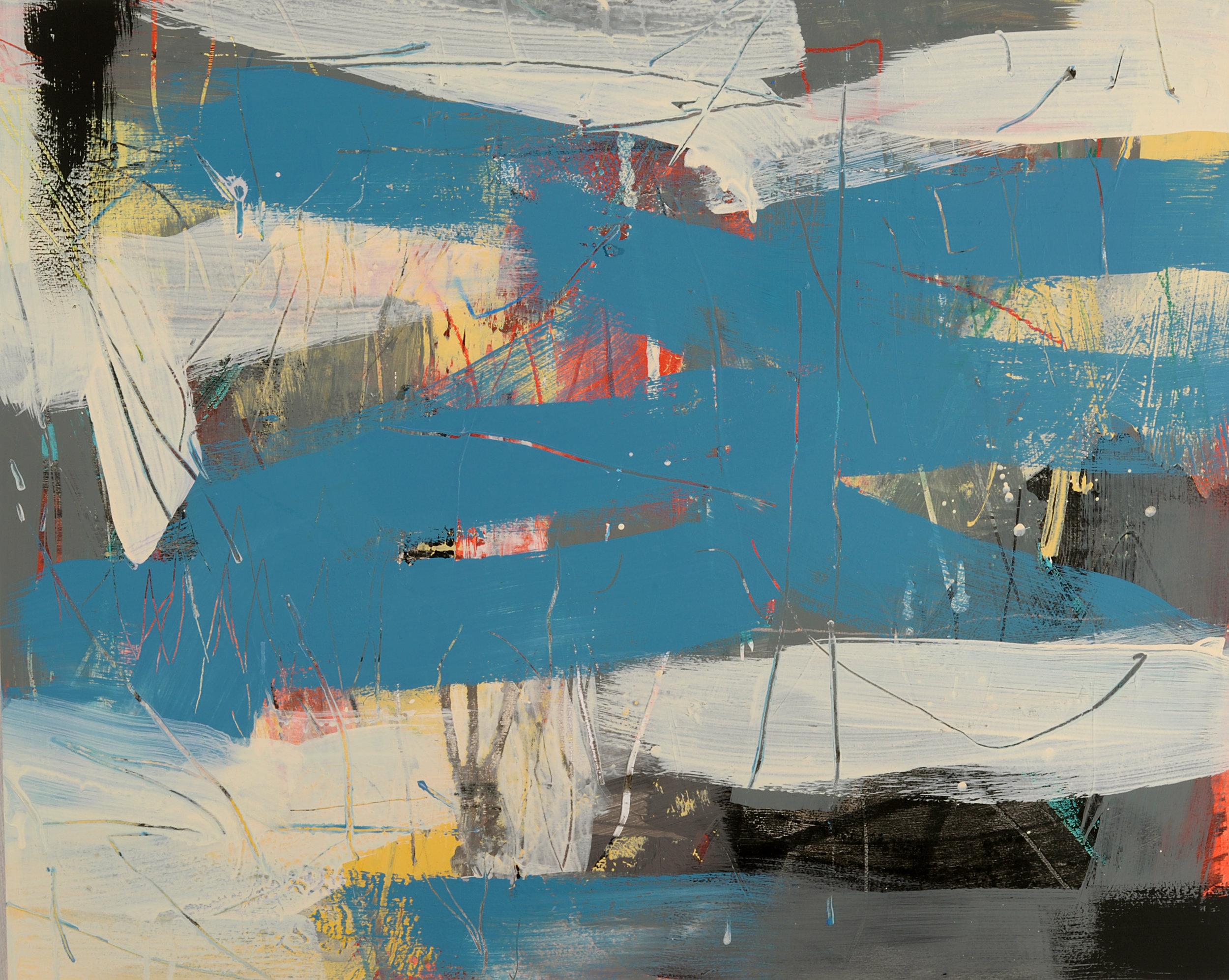 """Jane Cohen,  Harmony too , acrylic and mixed-media, 24""""x30"""""""