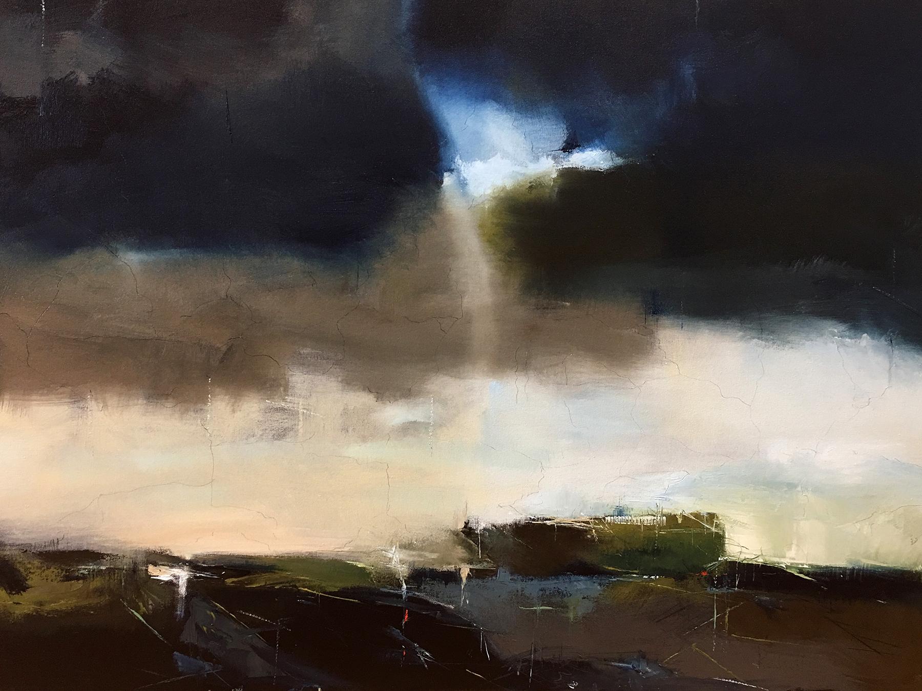 "Laura Radwell,  Umbra No. 8 , oil on canvas, 30""x40"""