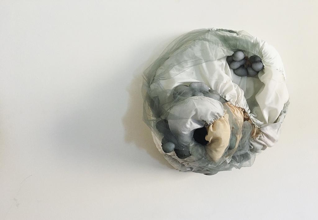 "Allegra Shunk,  Consent As Exhibition , fashion textile and foam, 24""x26""x12"""
