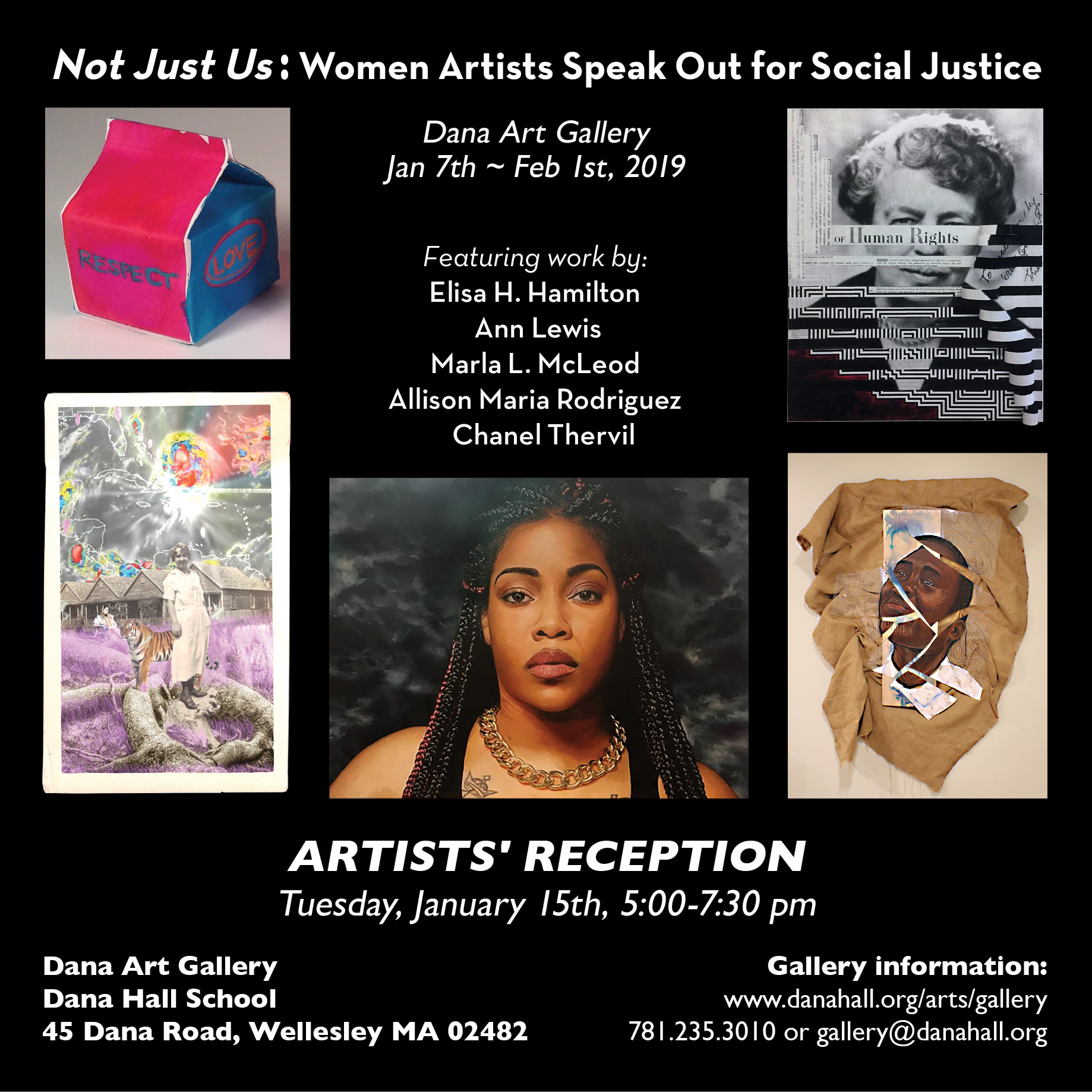 Poster for  Not Just Us  exhibit, featuring Alison Maria Rodriguez