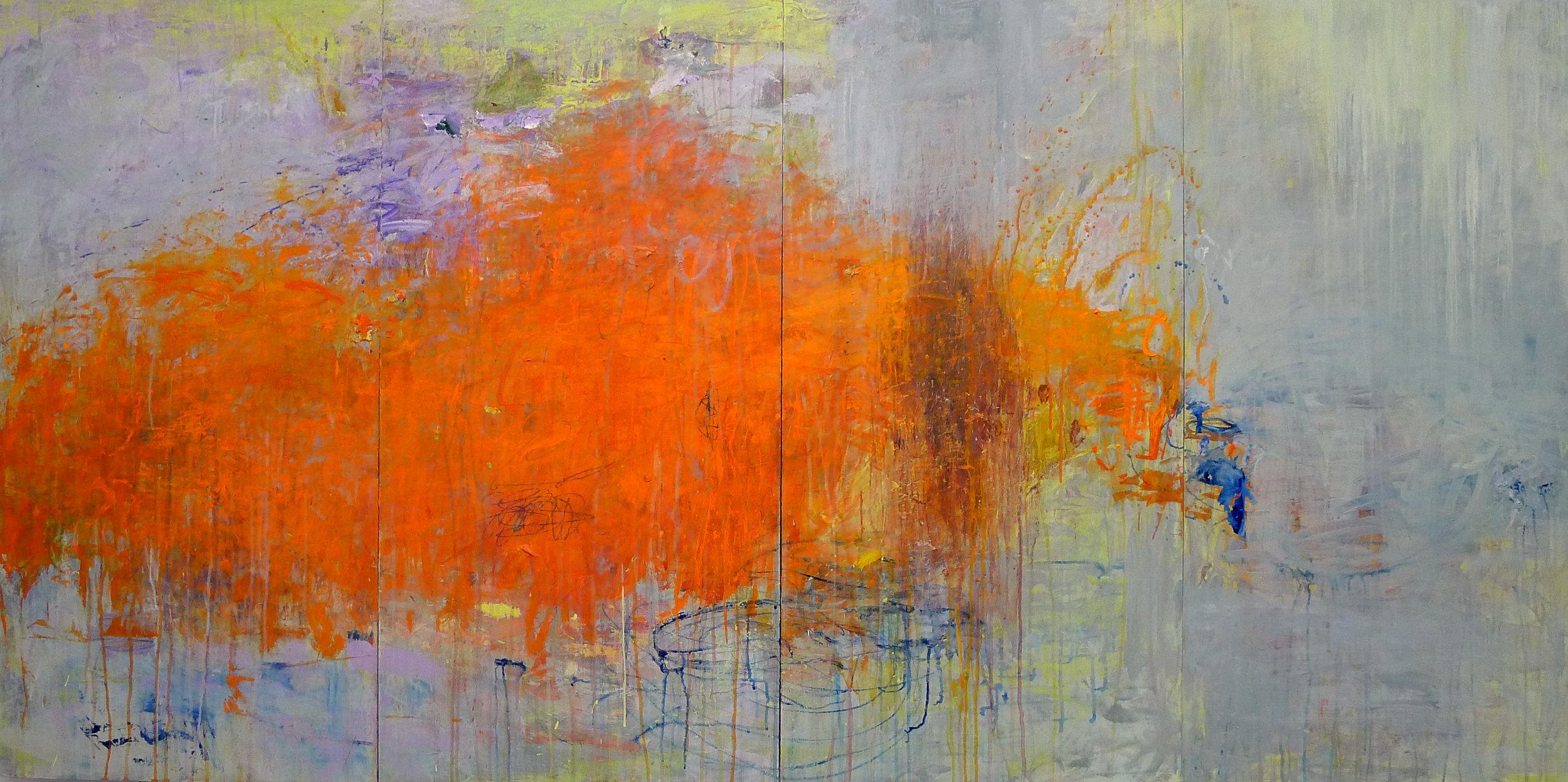 Cirioni,  Mazama 5 , Acrylic on panel, 40x80
