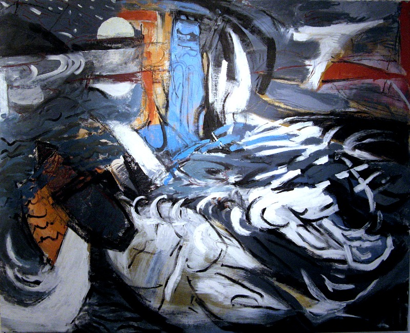 Osterman,  Meteor Shower , Oil on canvas, 42x52