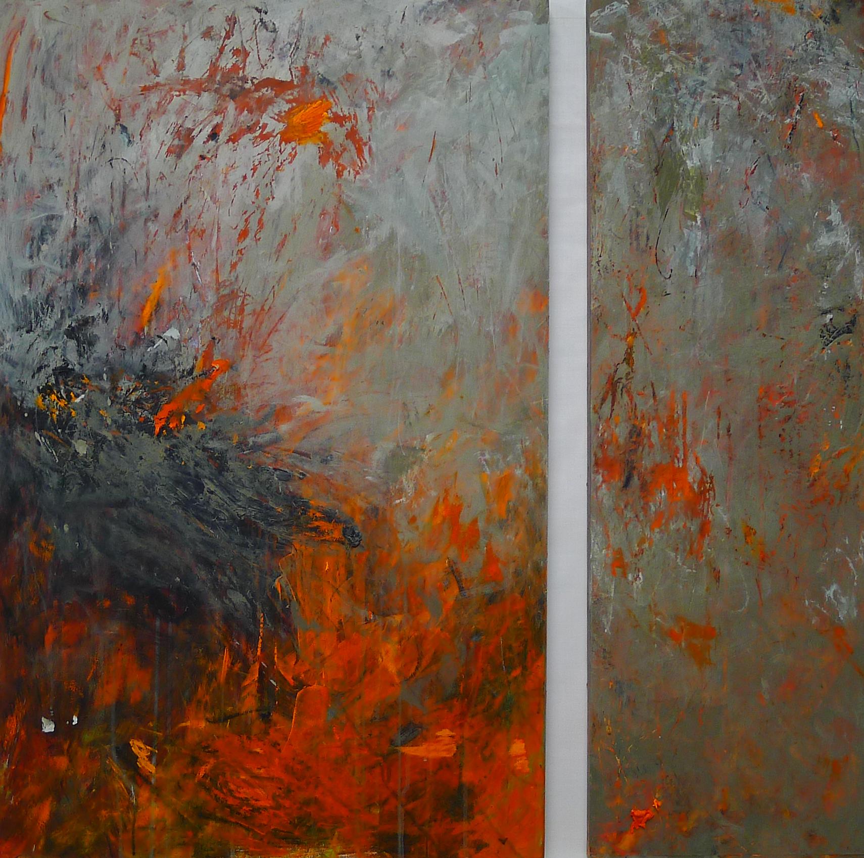 Mazama 9 , Acrylic on panel, 37x37