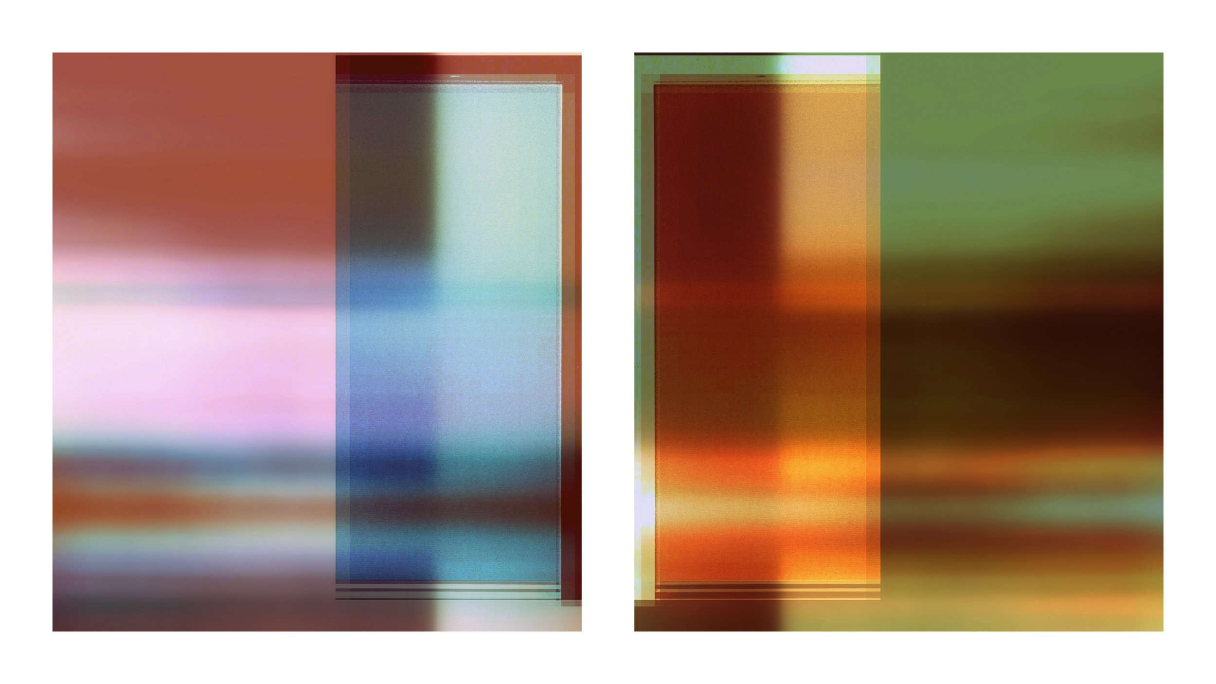 Broken Television 317 and 318 (diptych)