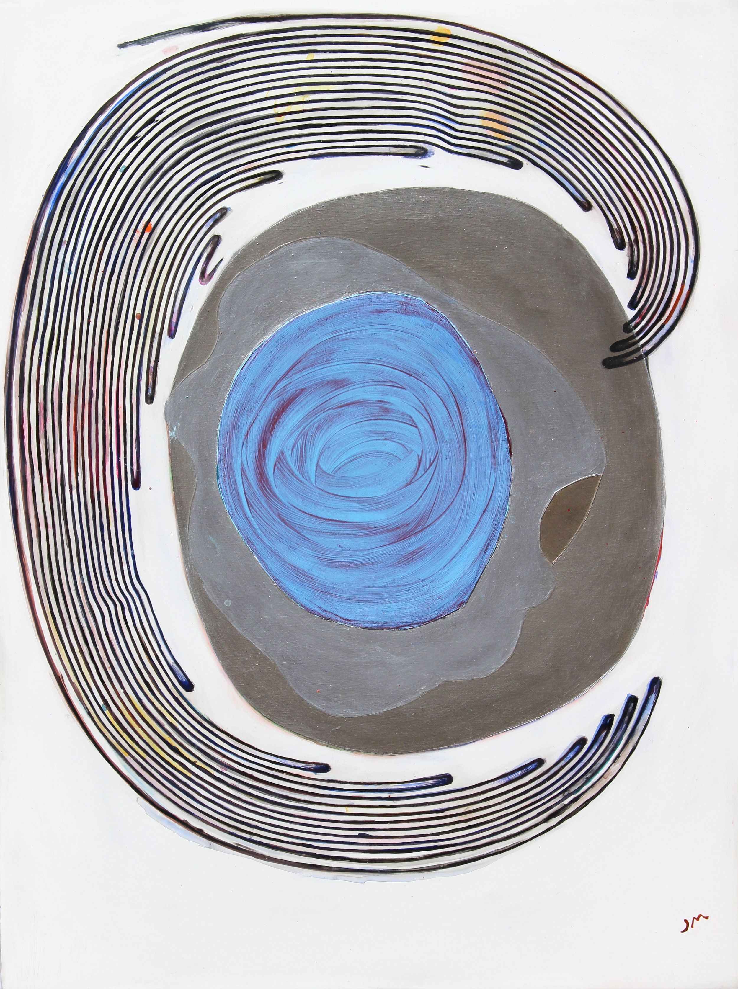 Joel Moskowitz,  Embracing Everything , Acrylic on wood panel, 24x18