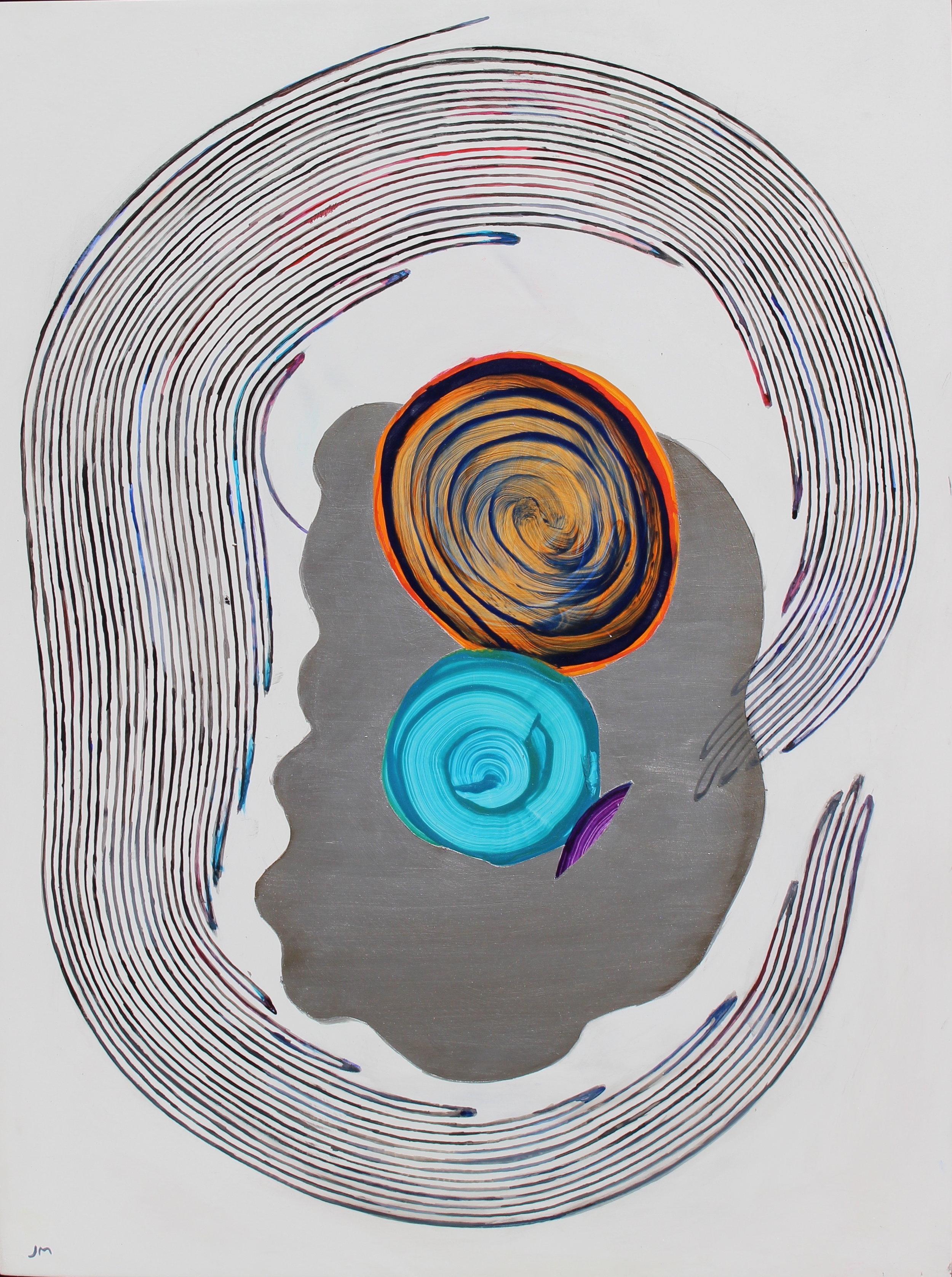 Joel Moskowitz,  Embracing My True Colors , Acrylic on wood panel, 24x18