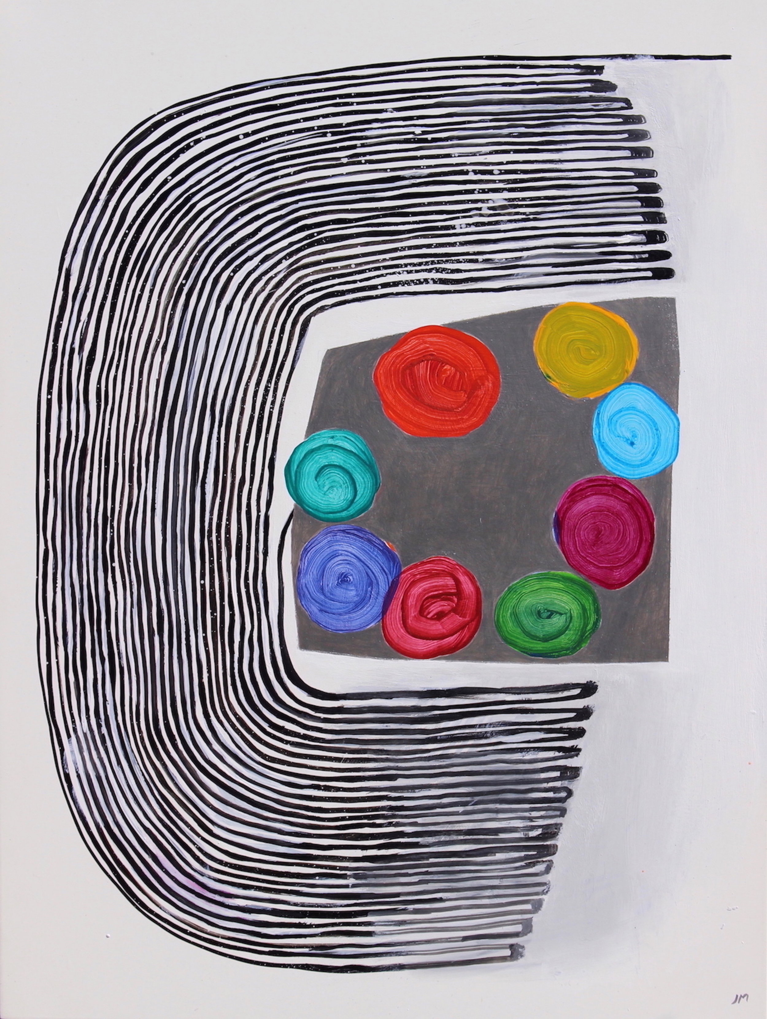 Joel Moskowitz,  My True Colors,  Acrylic on wood panel, 24x18