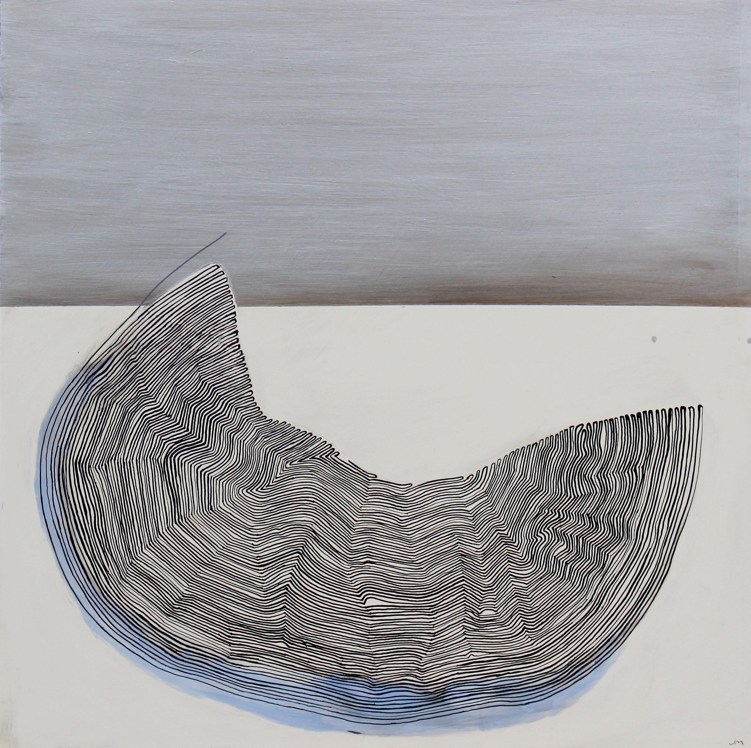 Joel Moskowitz,  Dreamscape , Acrylic on wood panel, 16x16