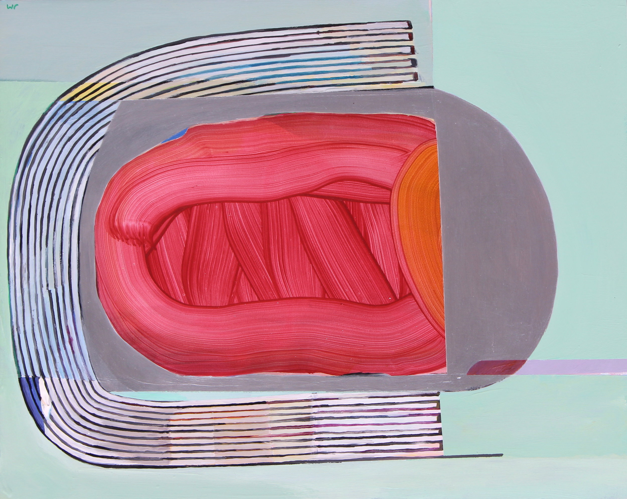 Joel Moskowitz, Soft Underbelly, Acrylic on wood panel, 16x20
