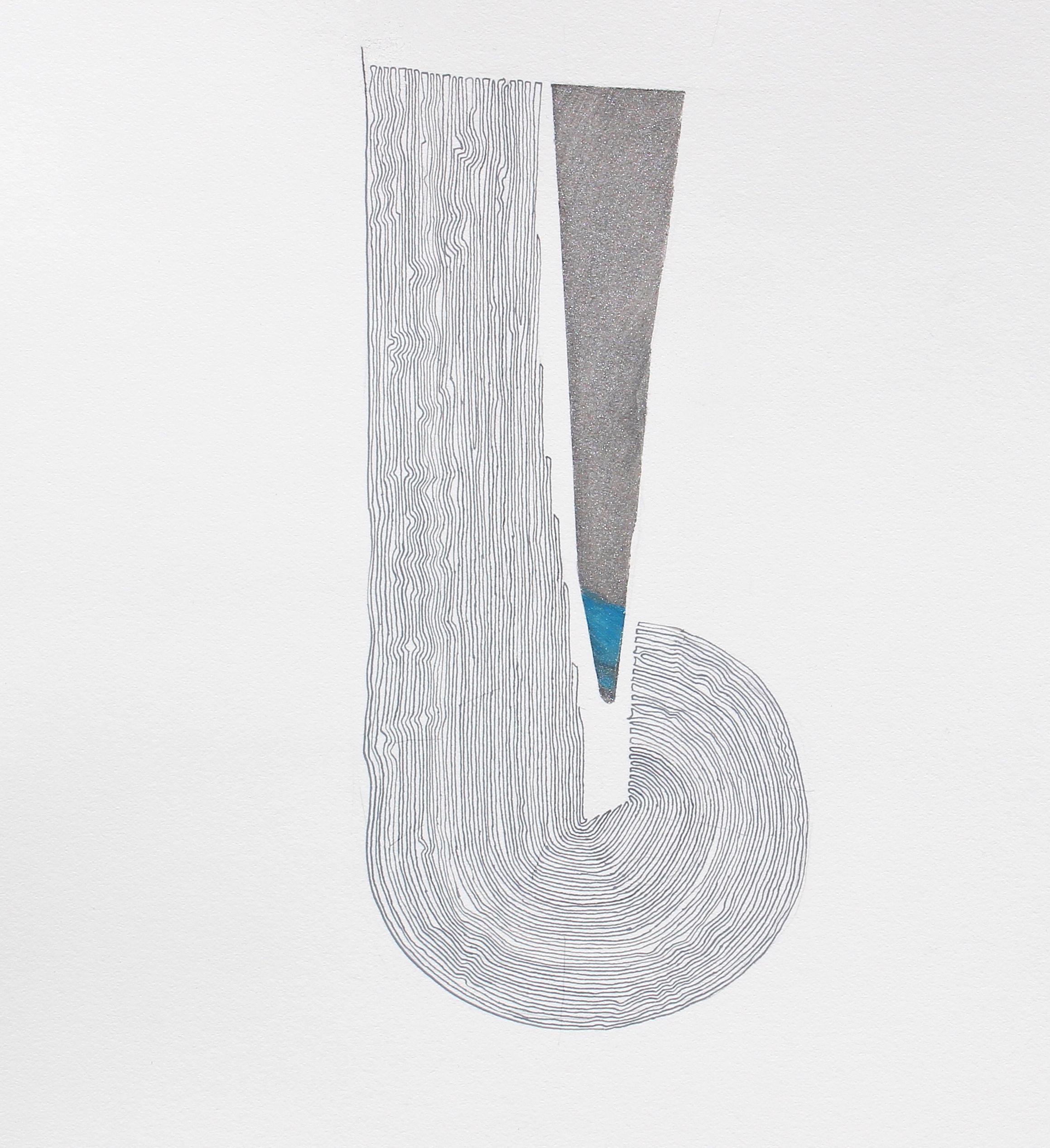 Joel Moskowitz, Needle and Thread, Acrylic on paper, 15x12