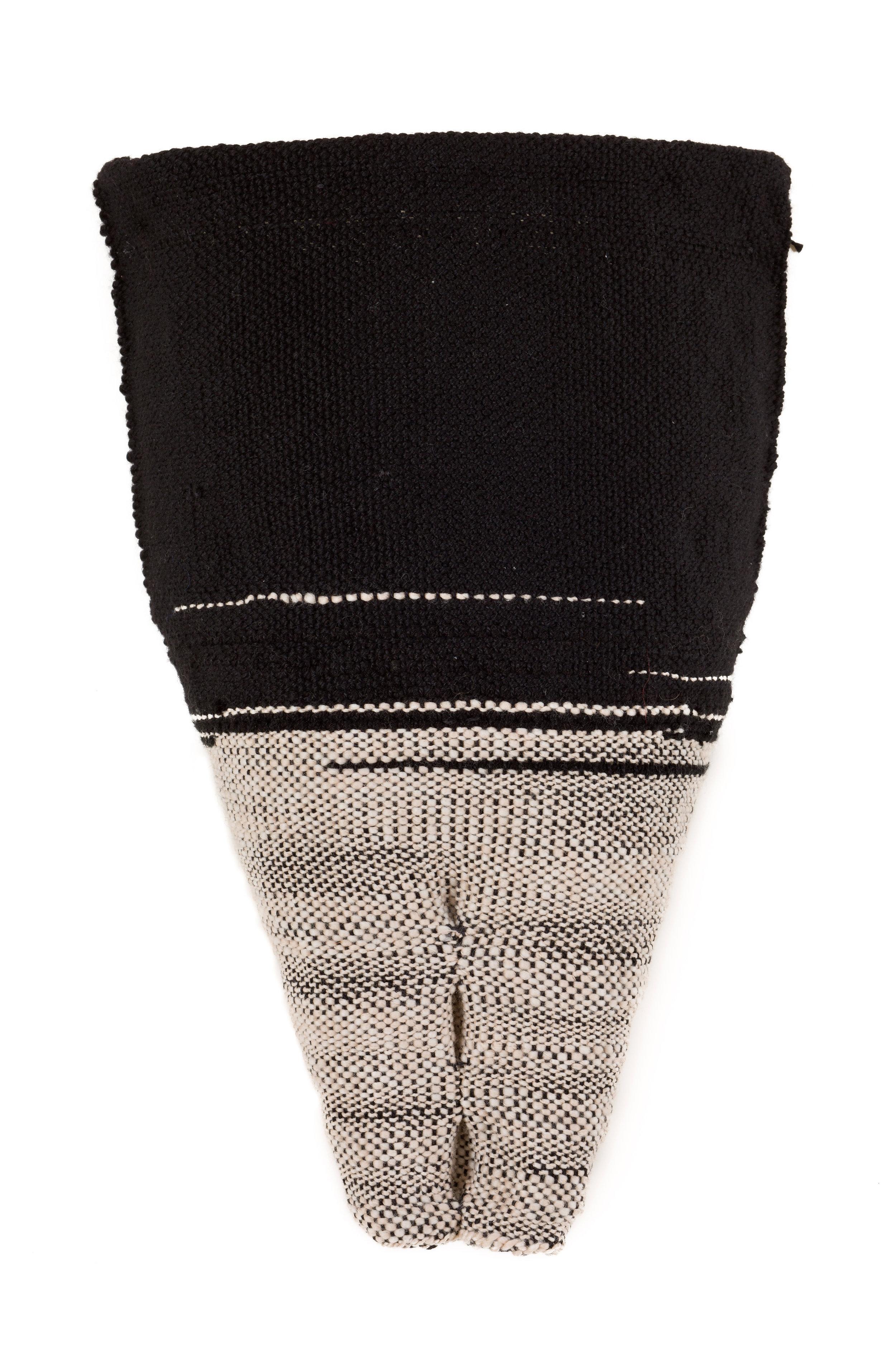 Sylvia Vander Sluis,  I Was a Child When (Pelvis series) , Handwoven wool, 17x11x4
